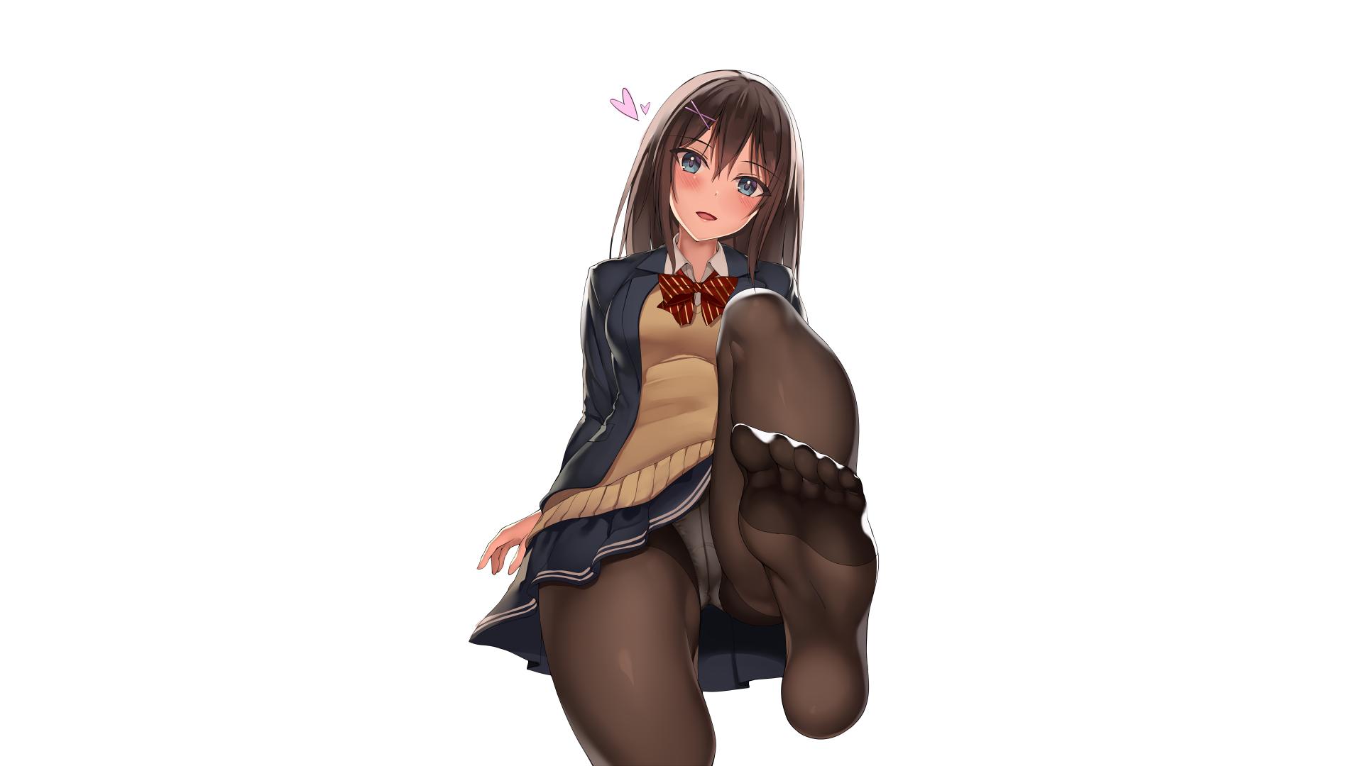 Anime Schoolgirl Upskirt wallpaper : anime girls, original characters, women