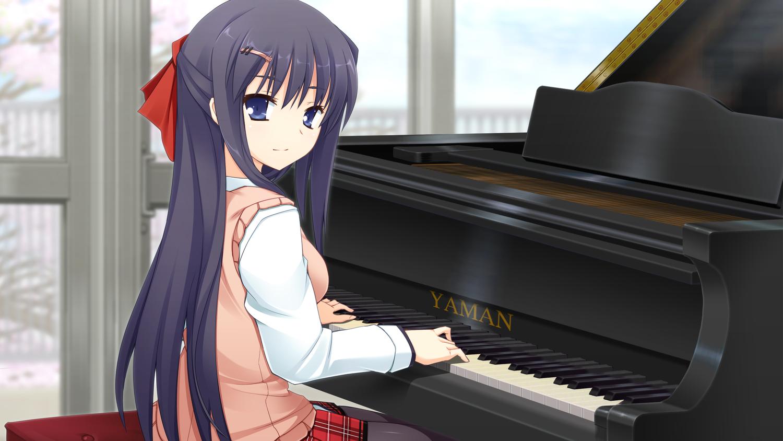 Wallpaper Anime Girls Piano 1500x844 Redline 1217019 Hd