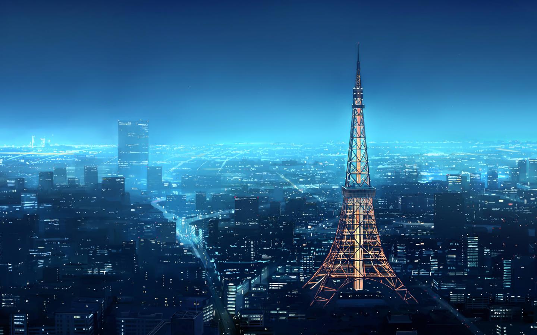 Fondos De Pantalla Anime Paisaje Torre De Tokio