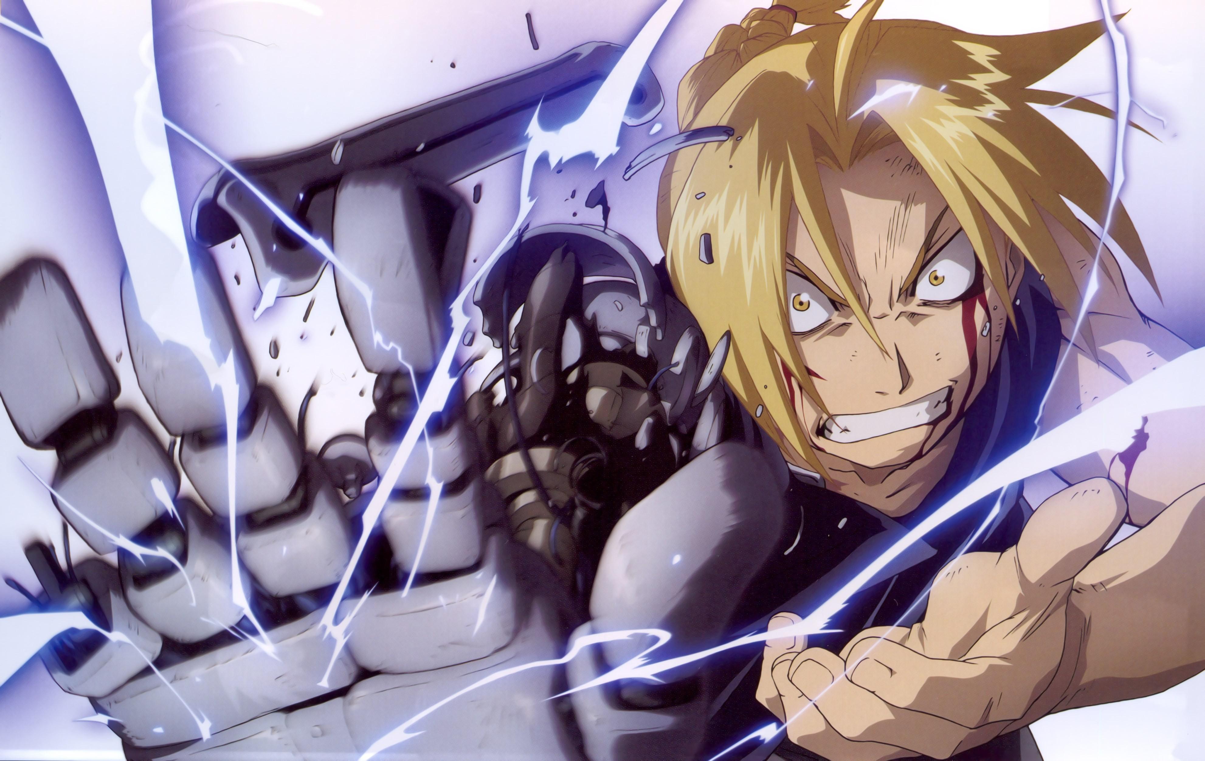 Wallpaper : anime, machine, Elric Edward, Full Metal Alchemist Brotherhood, mecha, mangaka ...