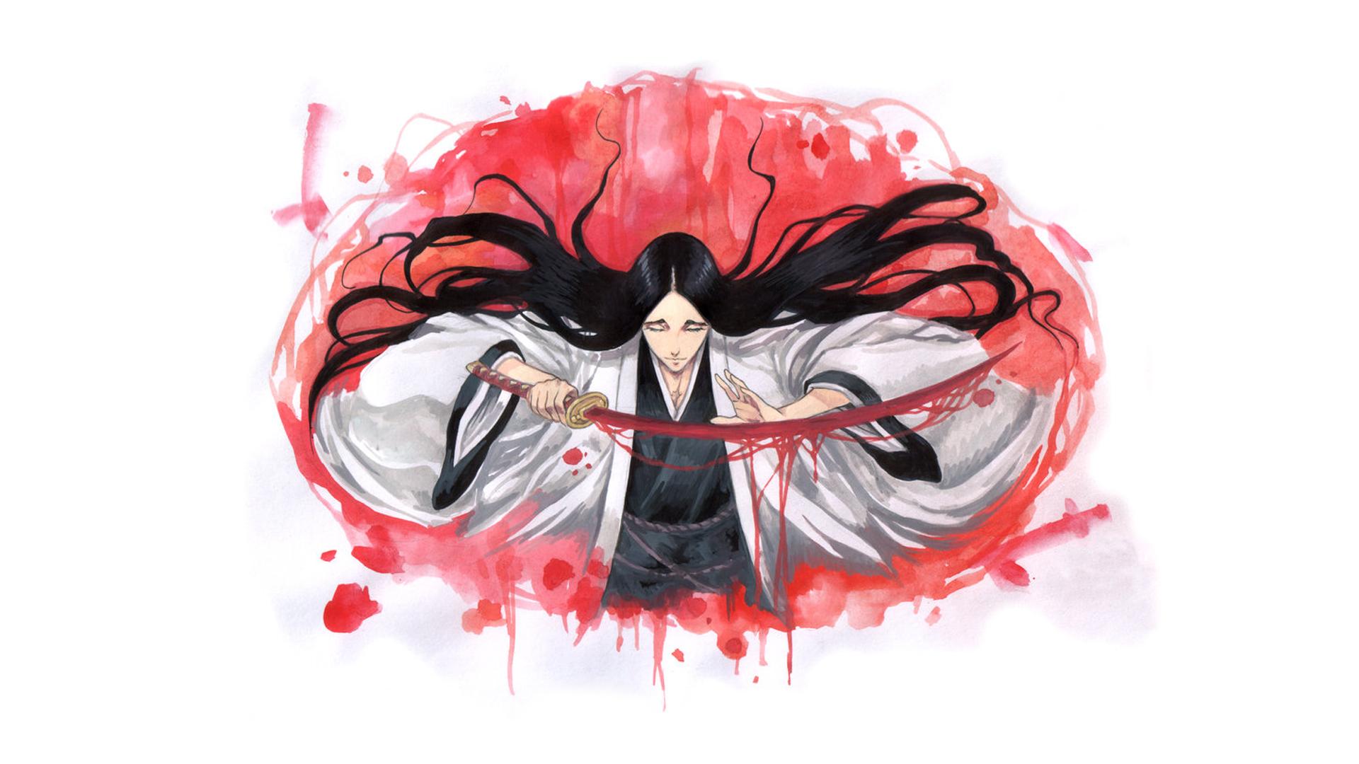 Wallpaper Anime Manga Bleach Unohana Retsu Kenpachi Shinigami