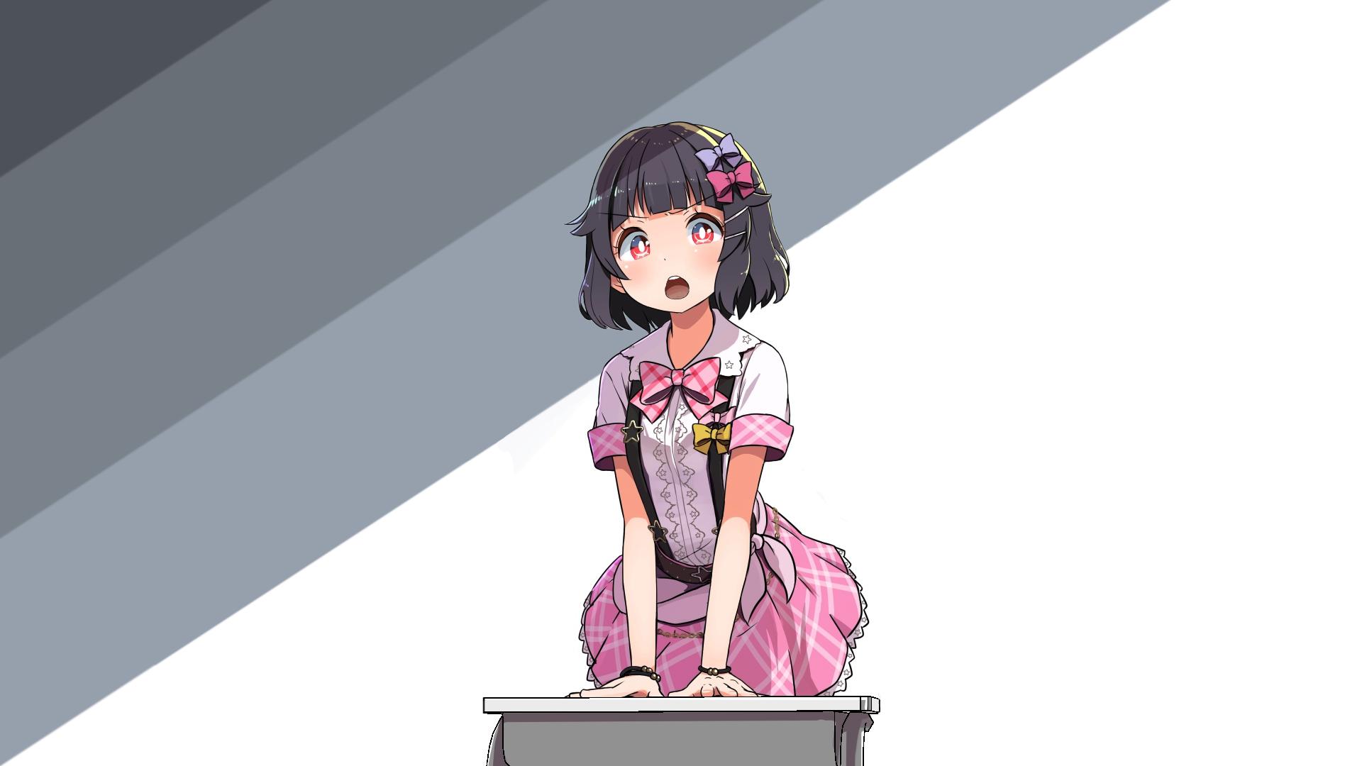 Sfondi Manga Anime Girls Kawaii Girl Rosa Sfondo Semplice