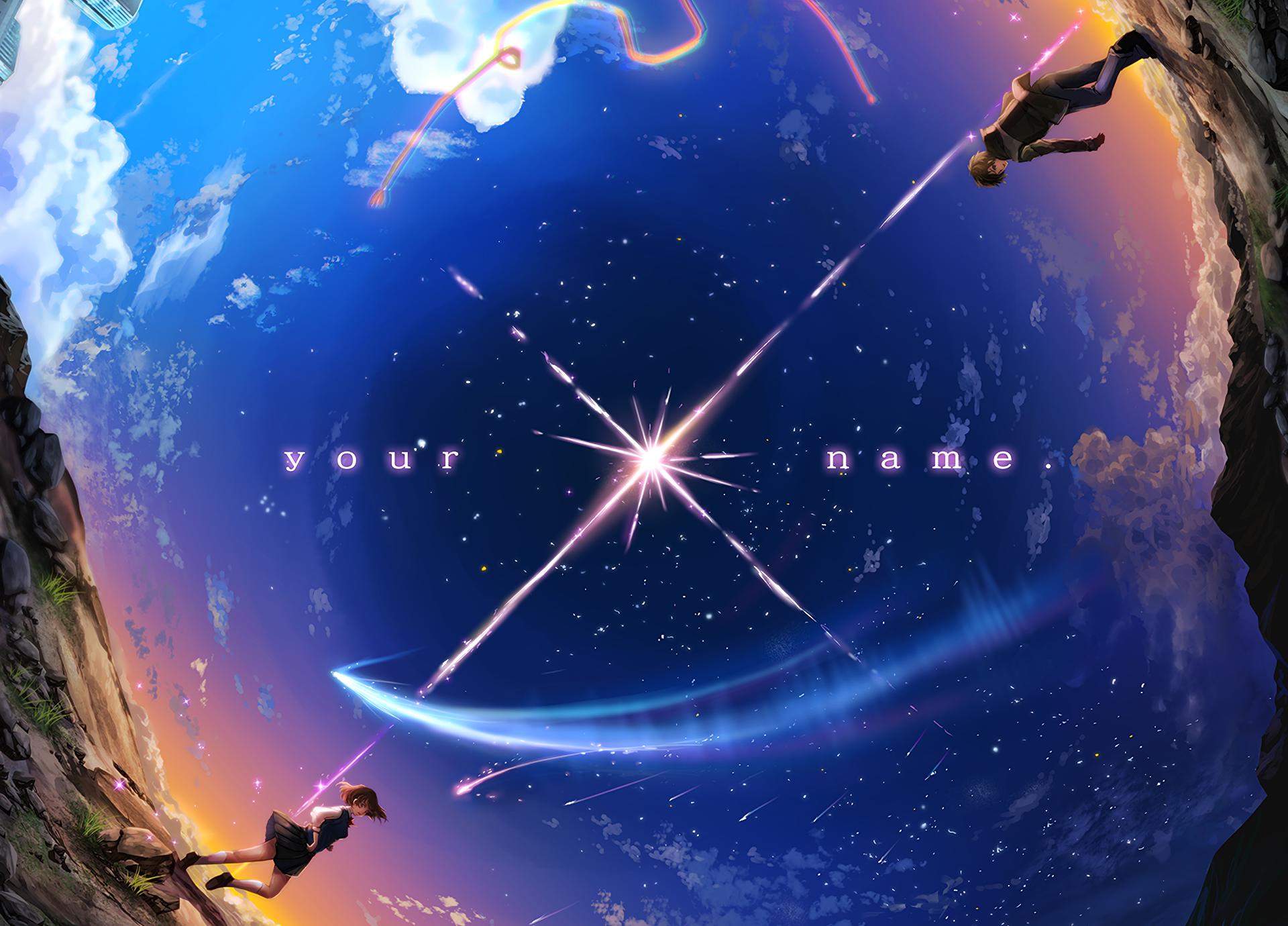 Wallpaper : anime, planet, Earth, Miyamizu Mitsuha, your name, universe, Tachibana Taki ...