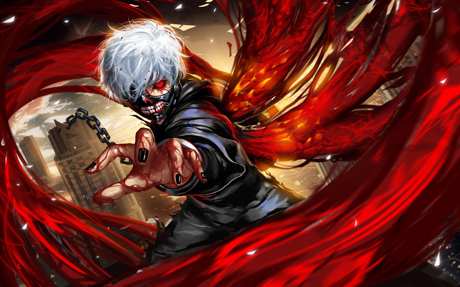 Wallpaper Anime Red Superhero Kaneki Ken Tokyo Ghoul