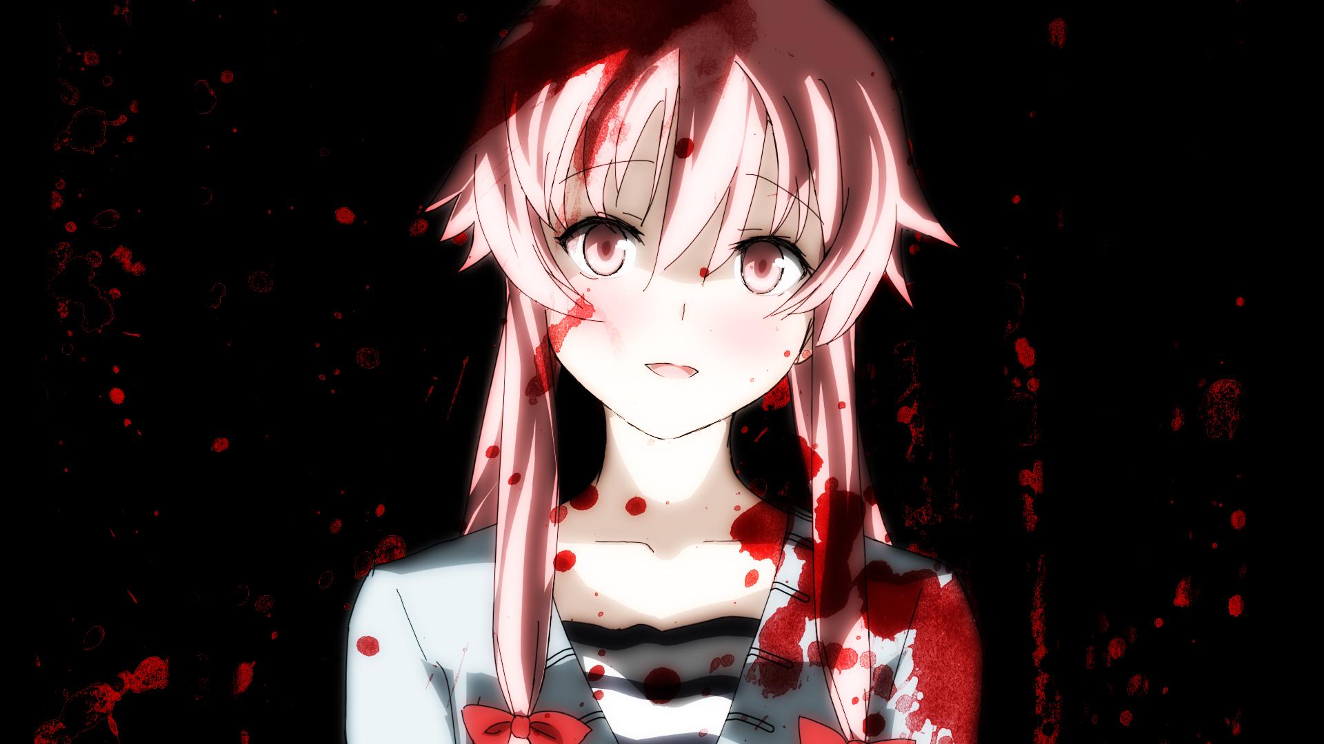 Anime Red Twintails Mirai Nikki Gasai Yuno Darkness 1920x1080 Px