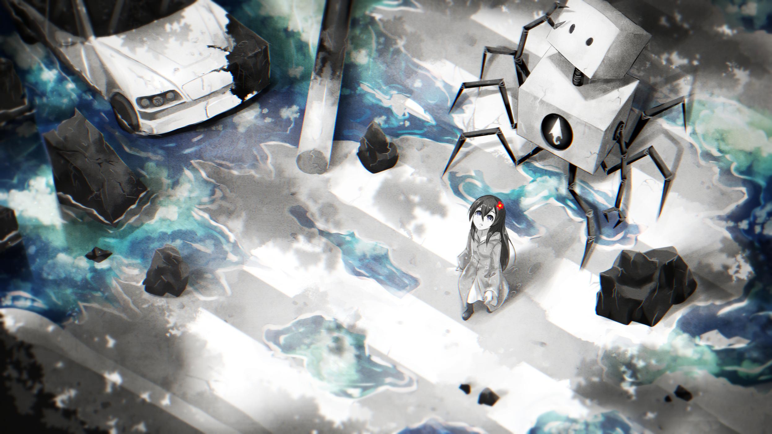 デスクトップ壁紙 アニメ ロボット スペース 青 氷 世界 機械