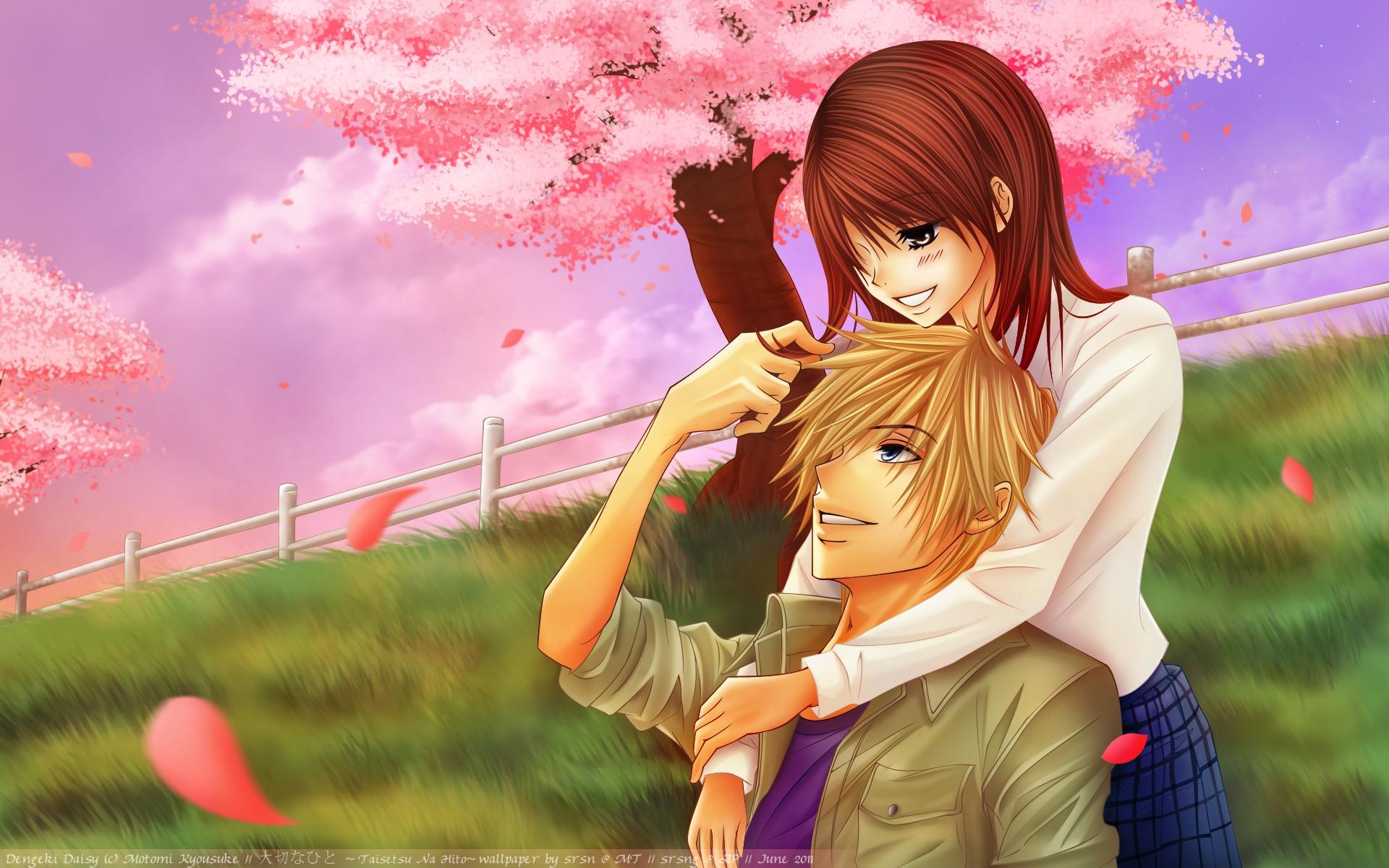 Fondos De Pantalla Anime Romance Flor Niña Sonreír