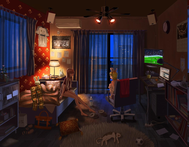 Fondos de pantalla anime habitaci n casa vocaloid for Classic house vocals