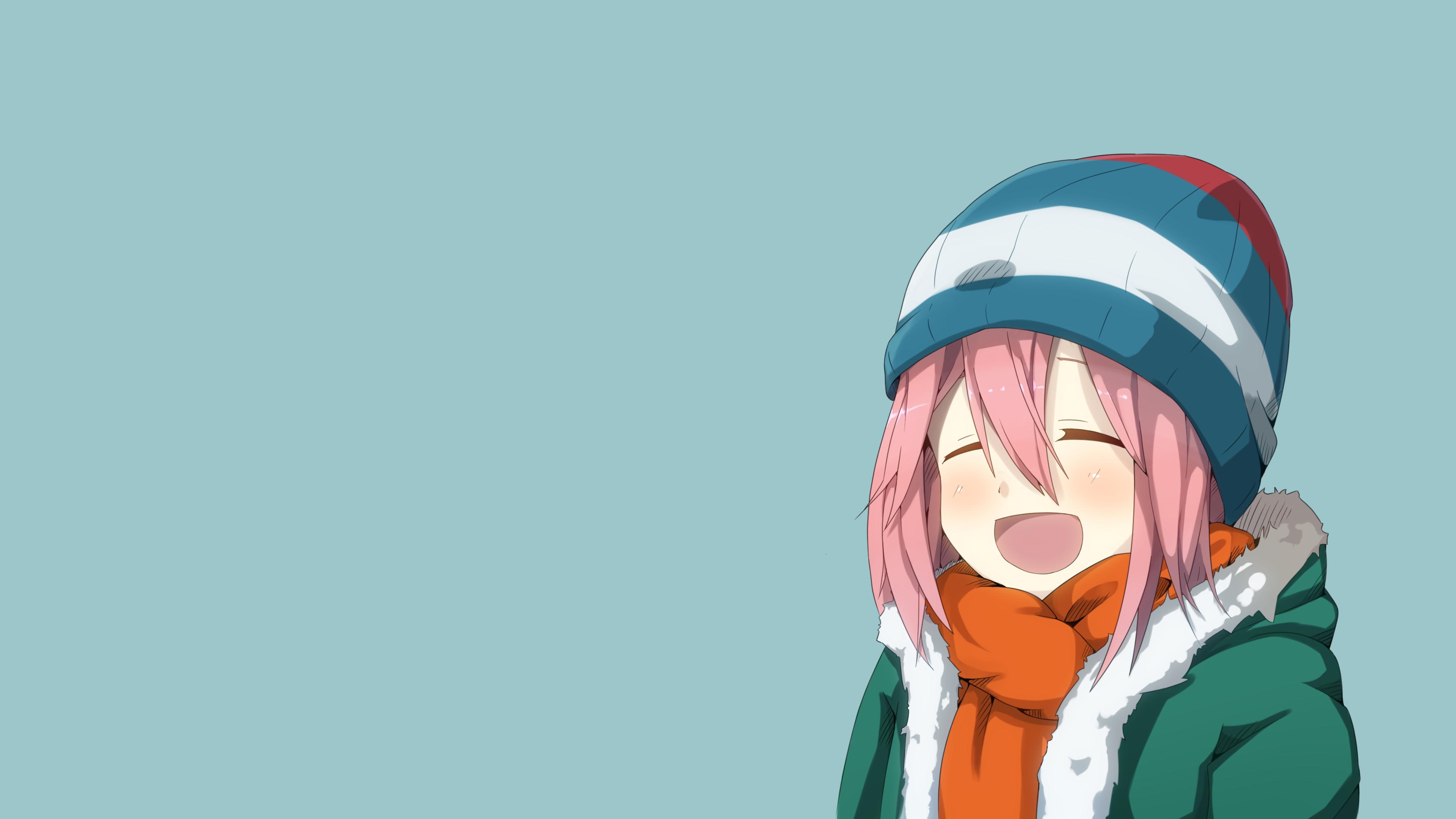 Anime simple background nadeshiko kagamihara yuru camp 1