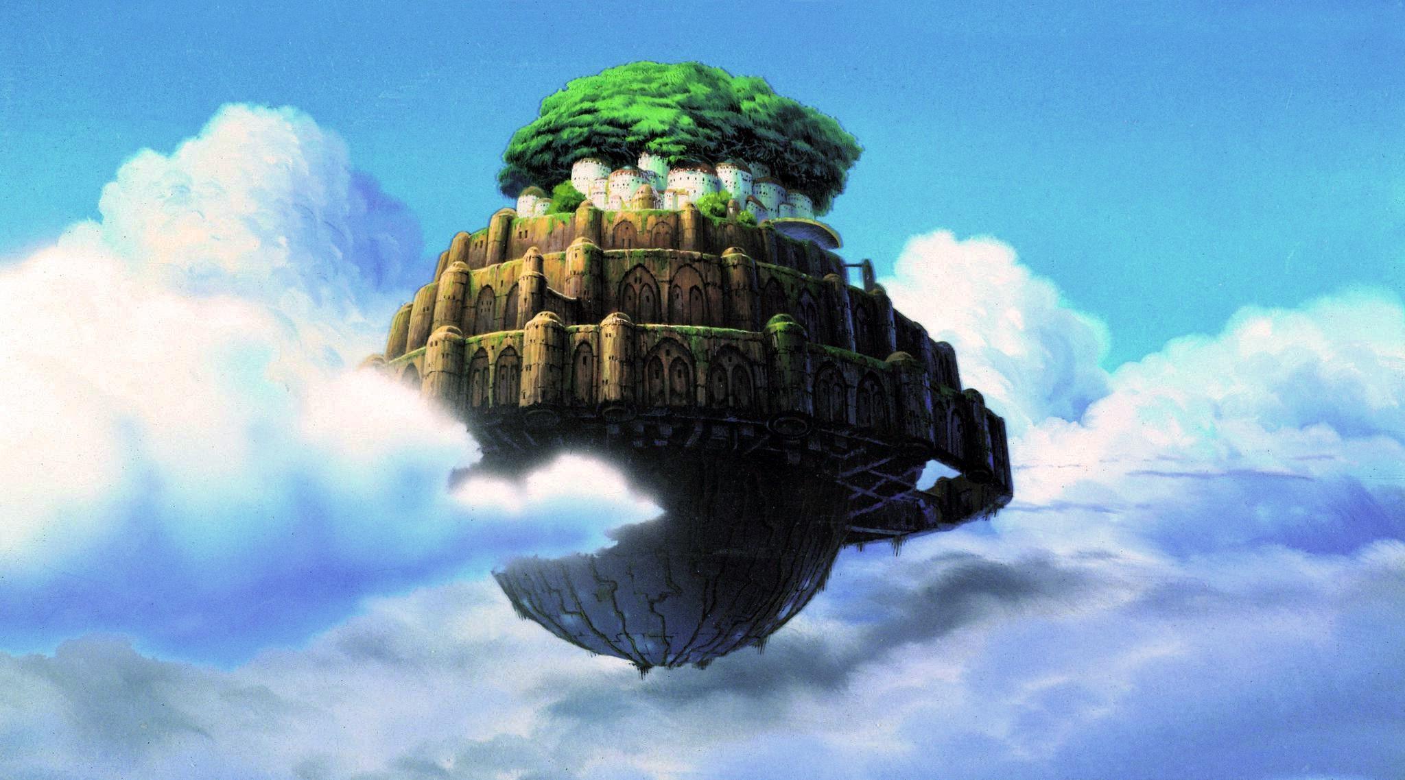 Anime Sky Hayao Miyazaki Castle In The Screenshot Atmosphere Of Earth 2048x1138 Px