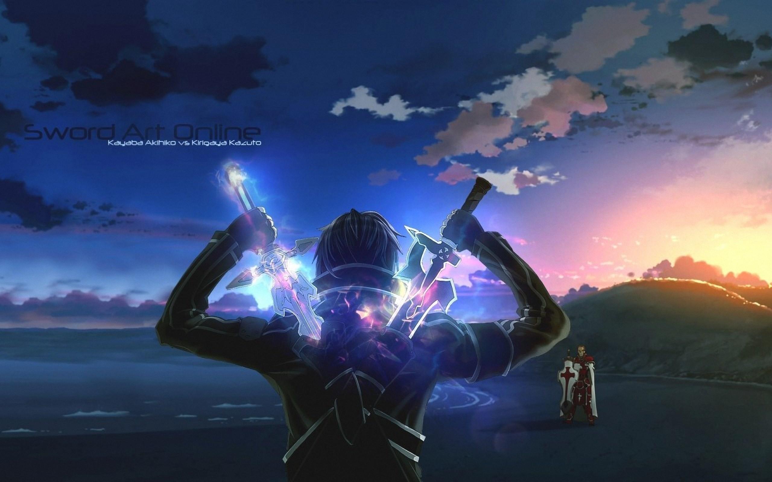Wallpaper Anime Space Sky Sword Art Online Kirigaya Kazuto Earth World Cloud Darkness Screenshot 2560x1600 Px Computer Atmosphere Of