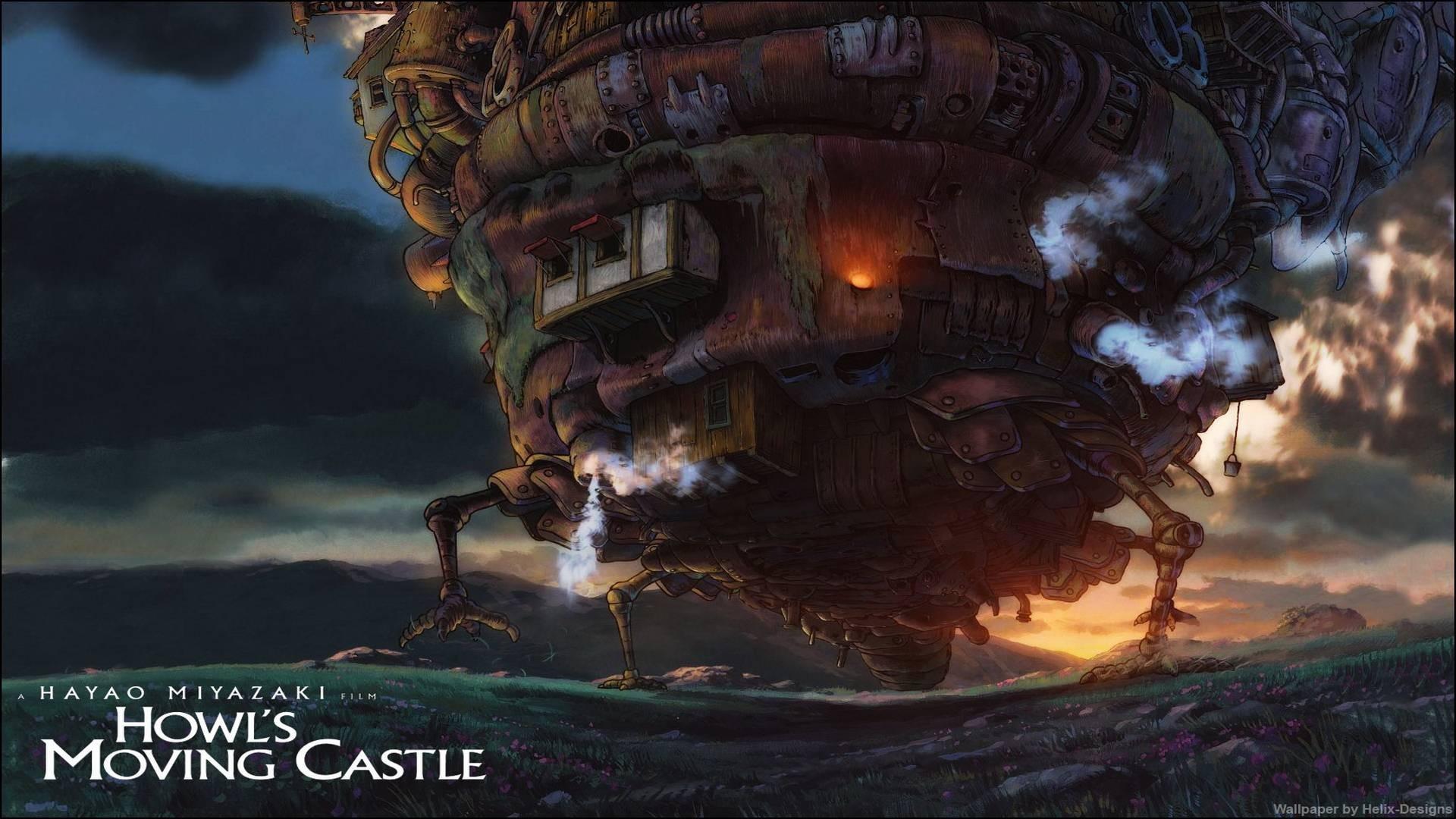 Wallpaper Anime Kendaraan Studio Ghibli Howl Moving Castle