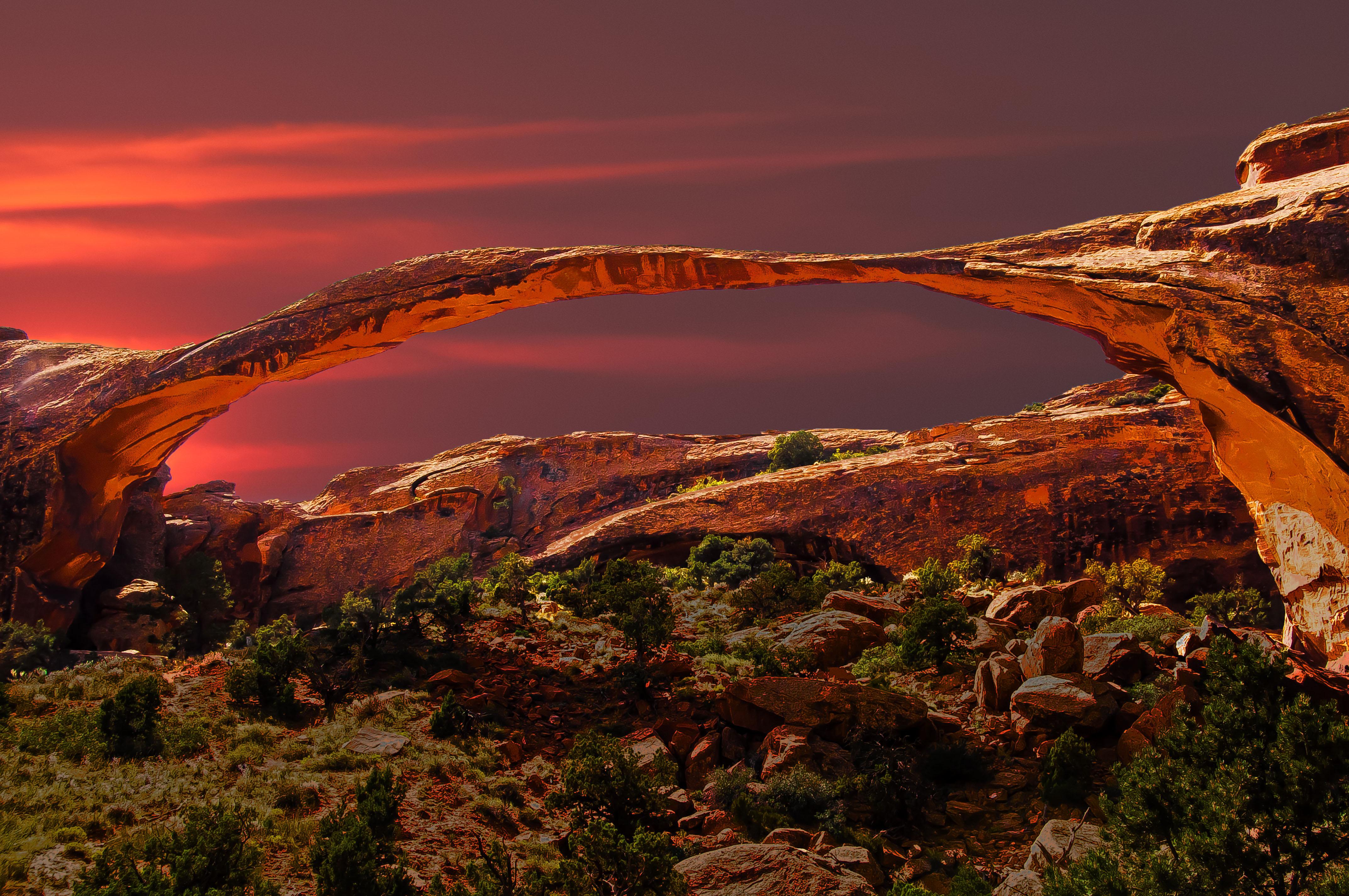 Wallpaper Archesnationalpark Landscape Arch