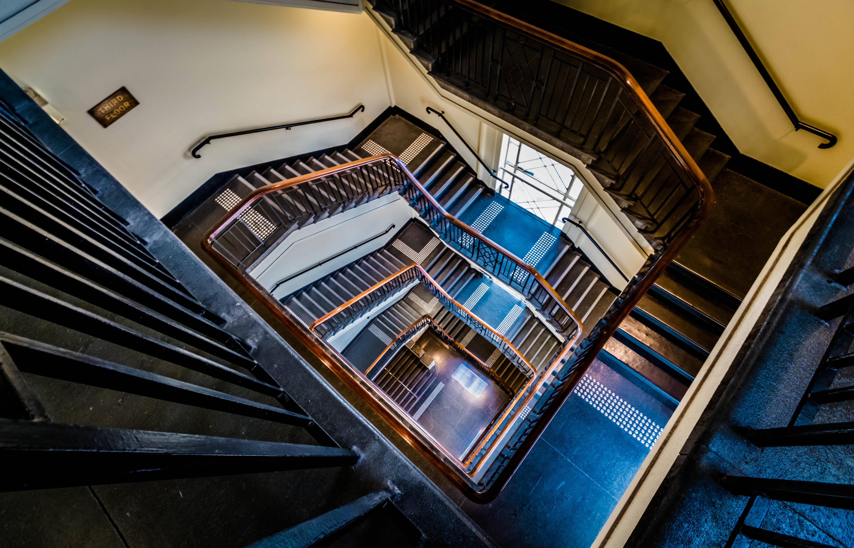 Die Architektur Auto Gebäude Symmetrie Haus Glas Metall Treppe Australien  Victoria Perspektive Melbourne Winkel Weiter Winkel