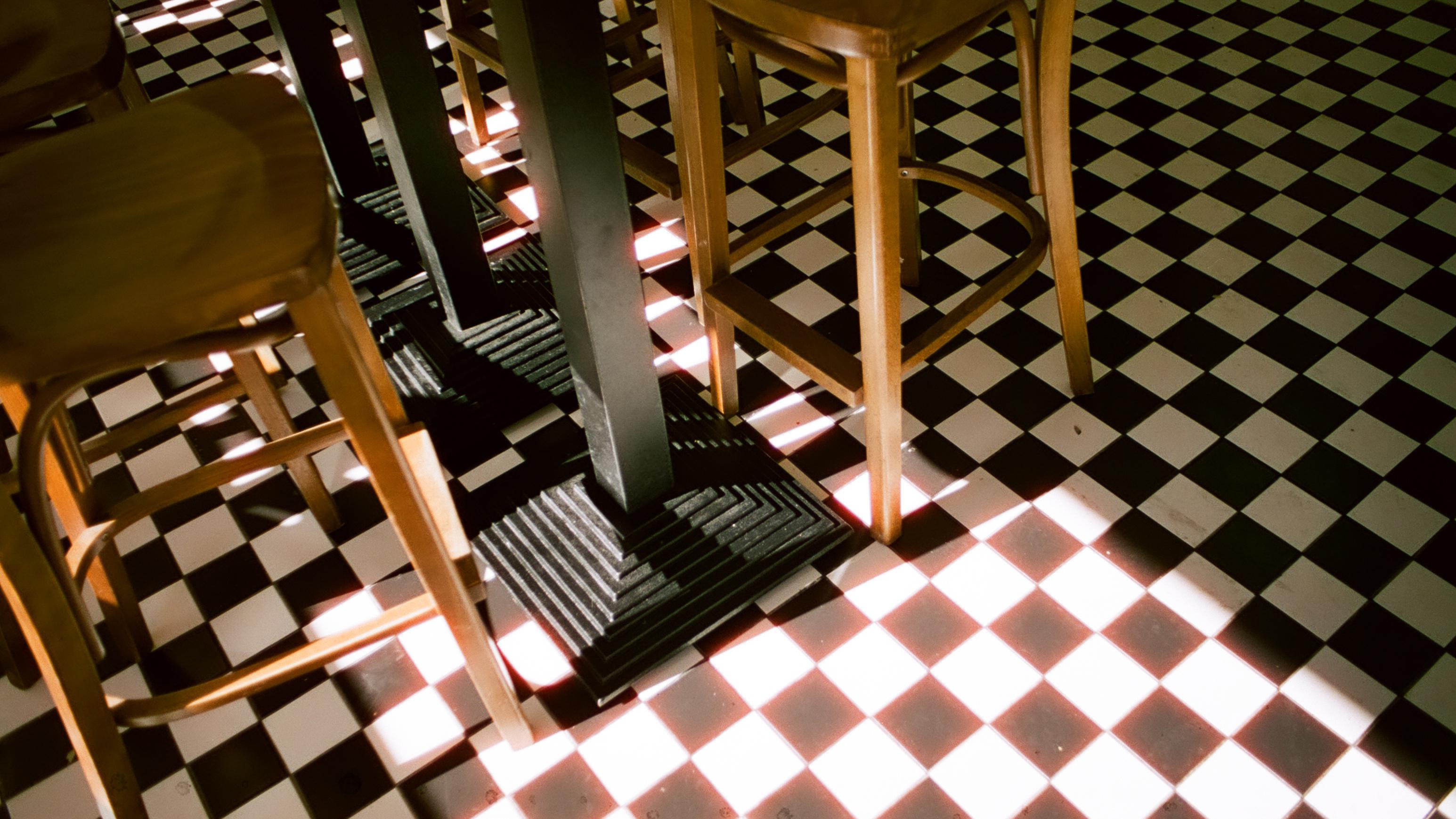 Wallpaper : architecture, symmetry, chair, pattern