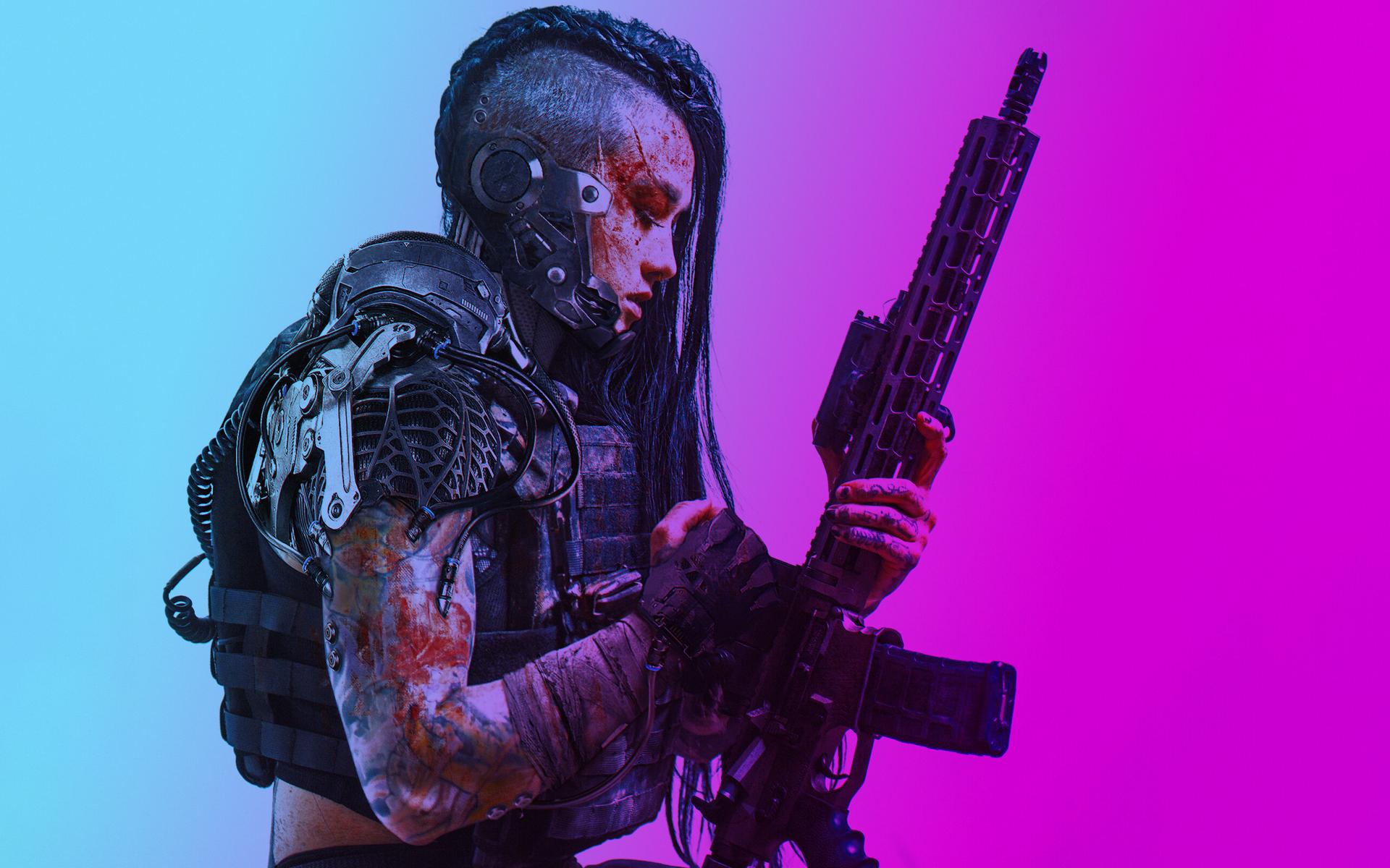 Cyberpunk Sci Fi Gun Concept Art