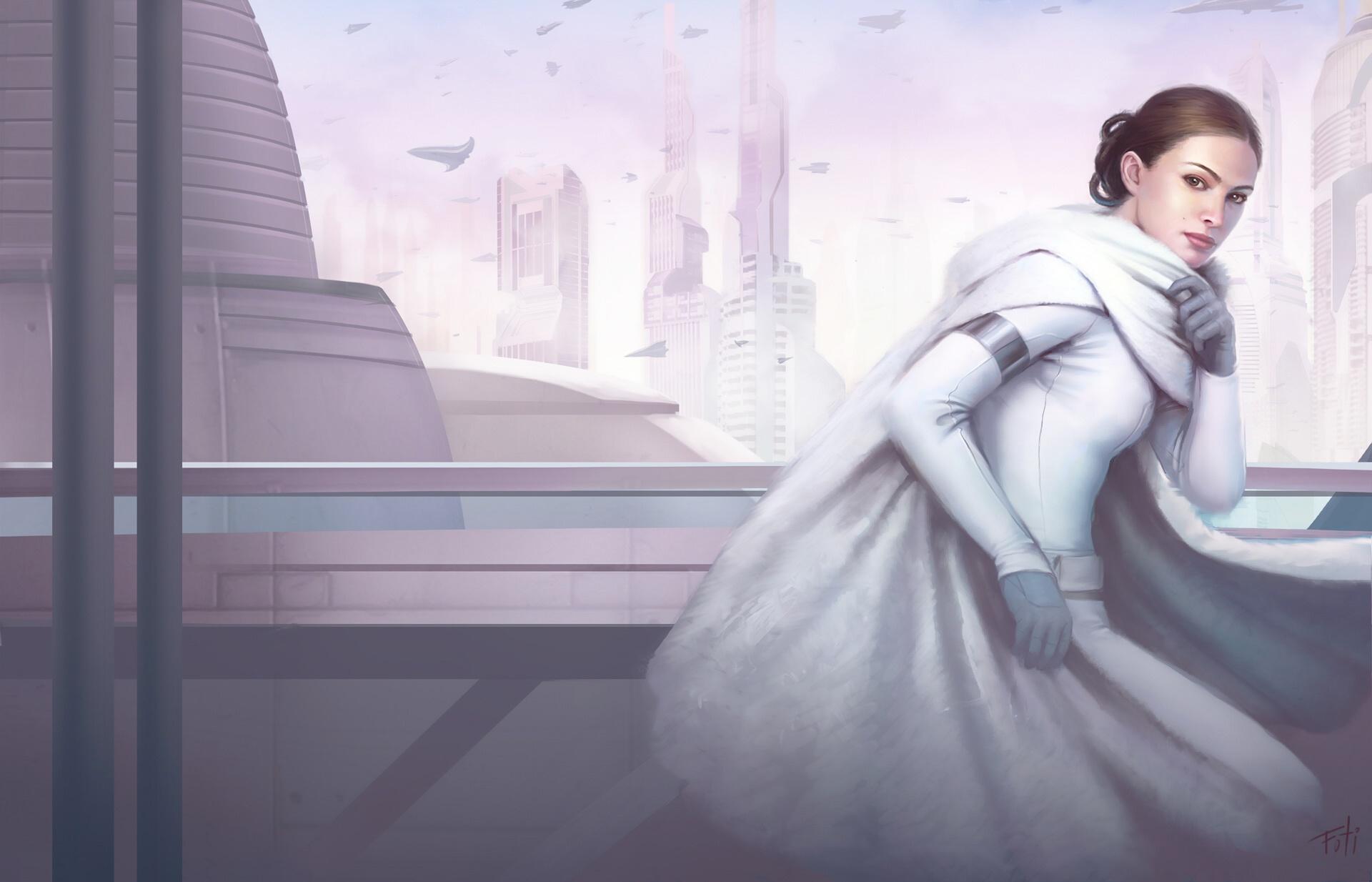 Wallpaper Artwork Natalie Portman Star Wars Padme Amidala