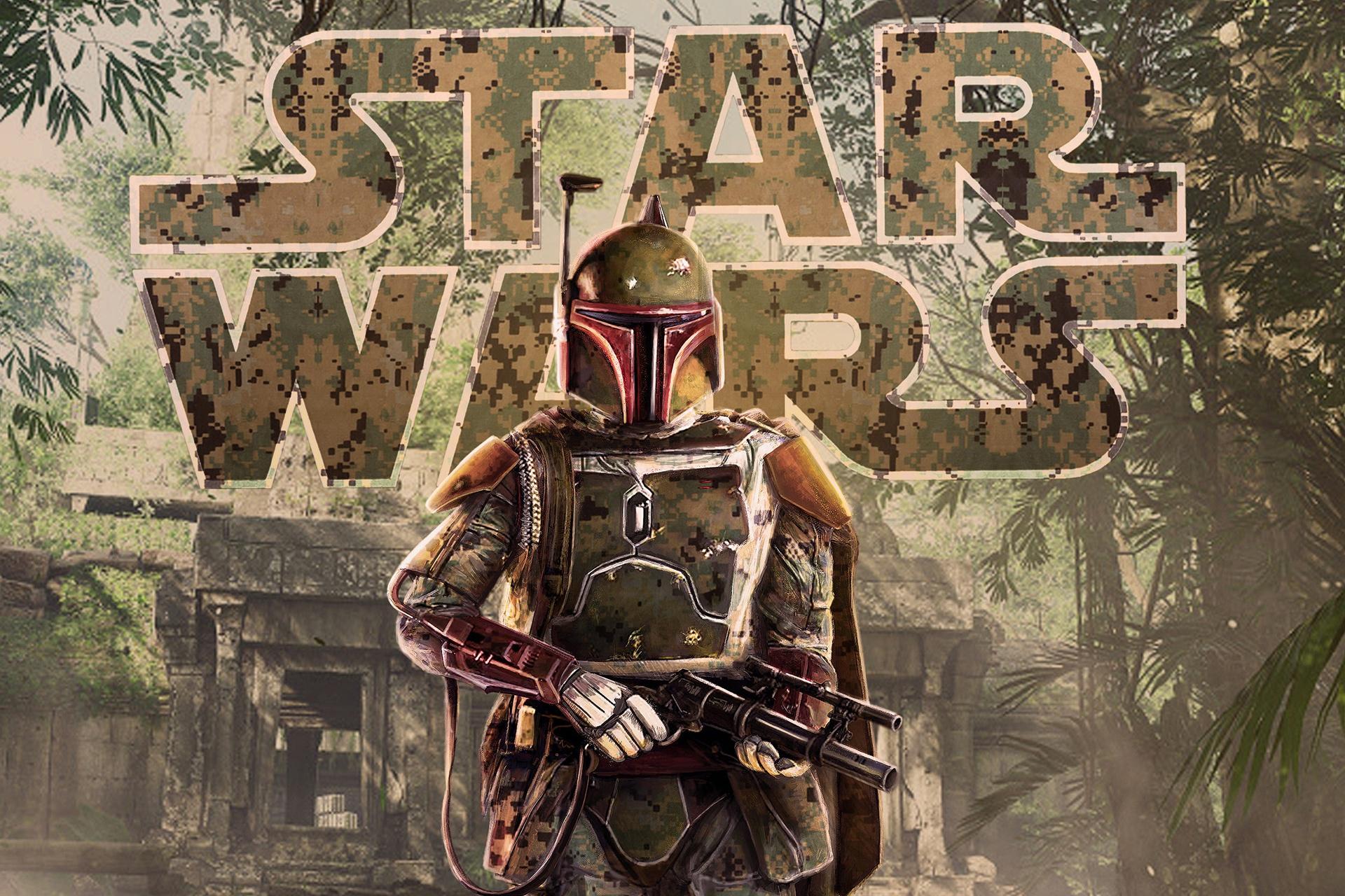 Wallpaper Artwork Star Wars Boba Fett 1920x1280