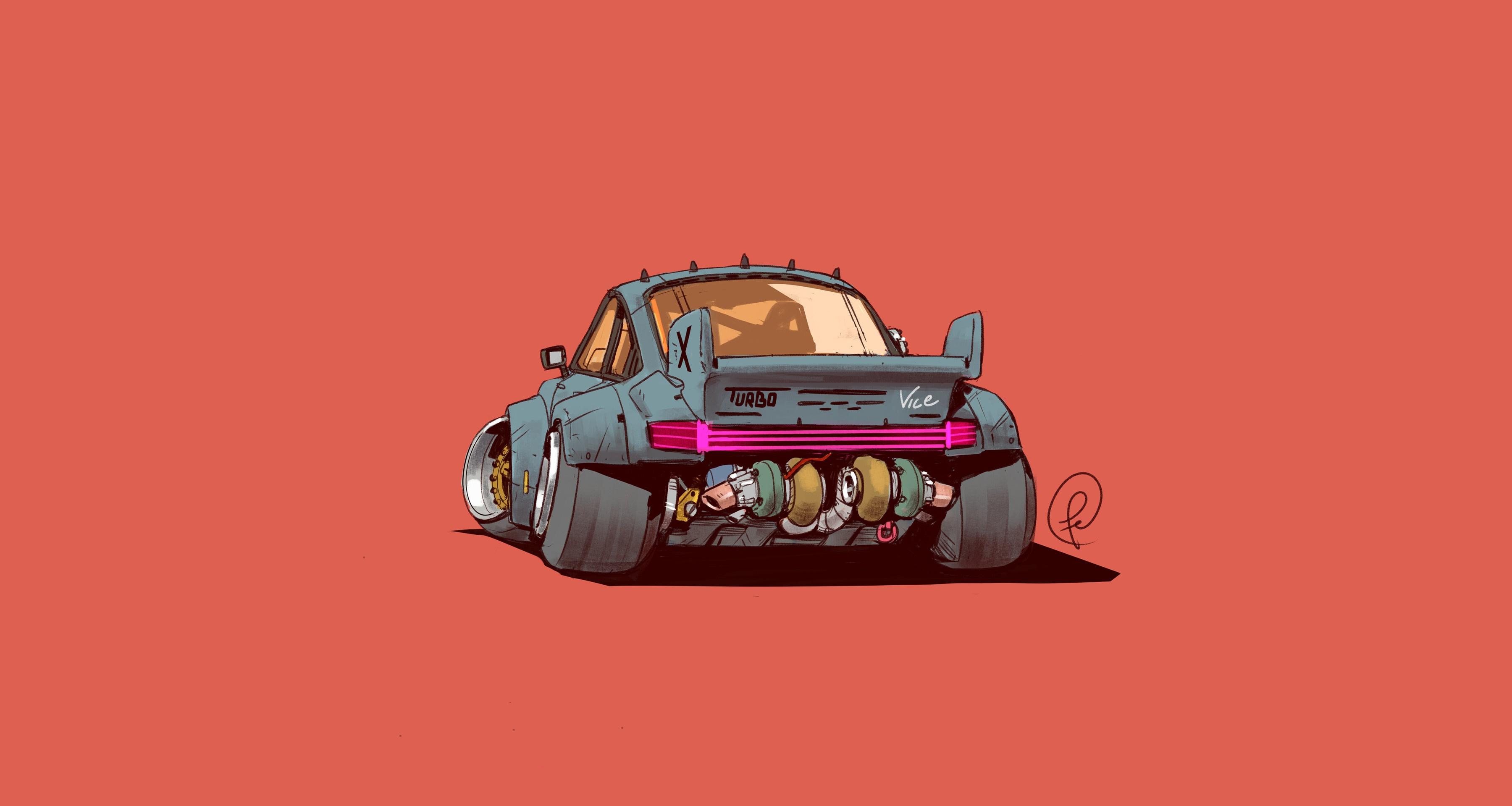 Wallpaper Artwork Car Vehicle Fernando Correa Porsche 911