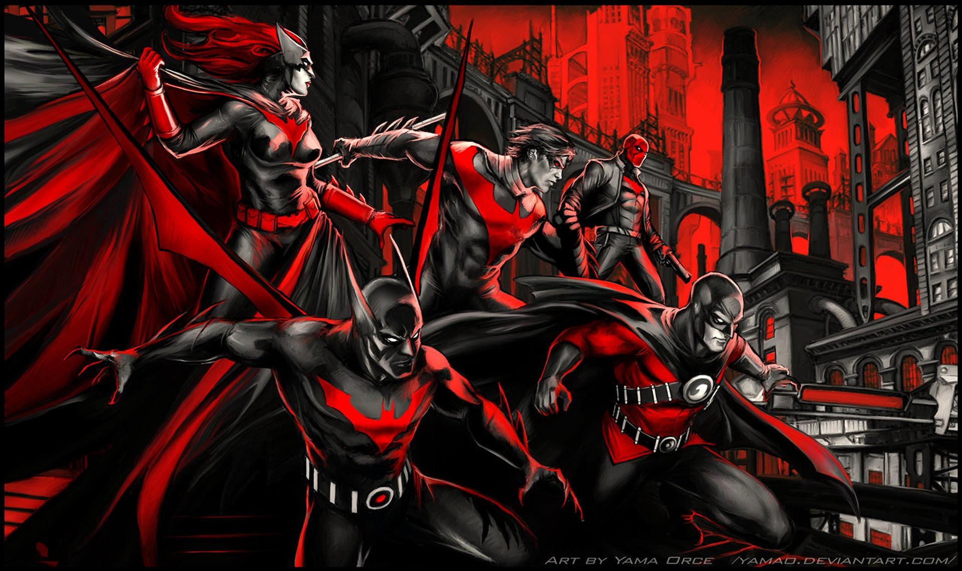 Artwork Fan Art Batman Batwoman Nightwing