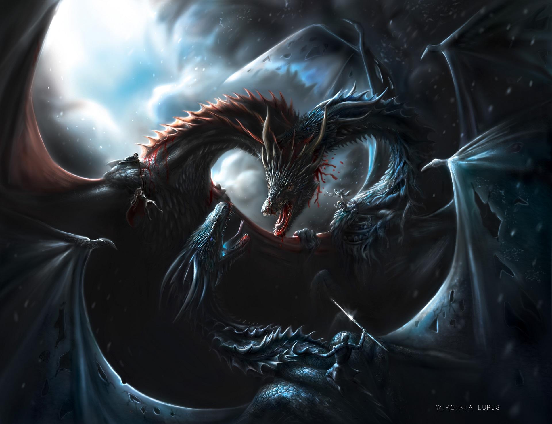 Wallpaper Artwork Fantasy Art Dragon Game Of Thrones The Night