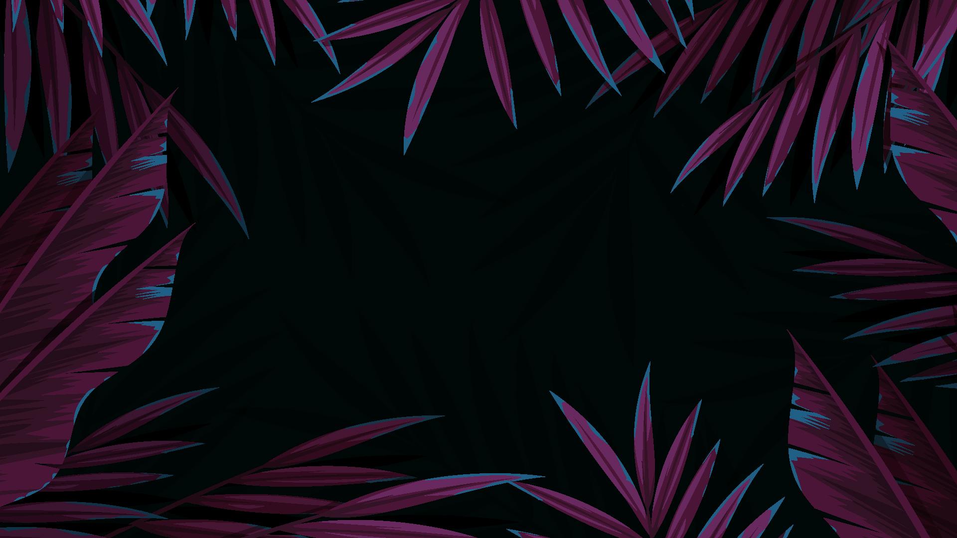 artwork leaves black simple minimalism purple 1919731