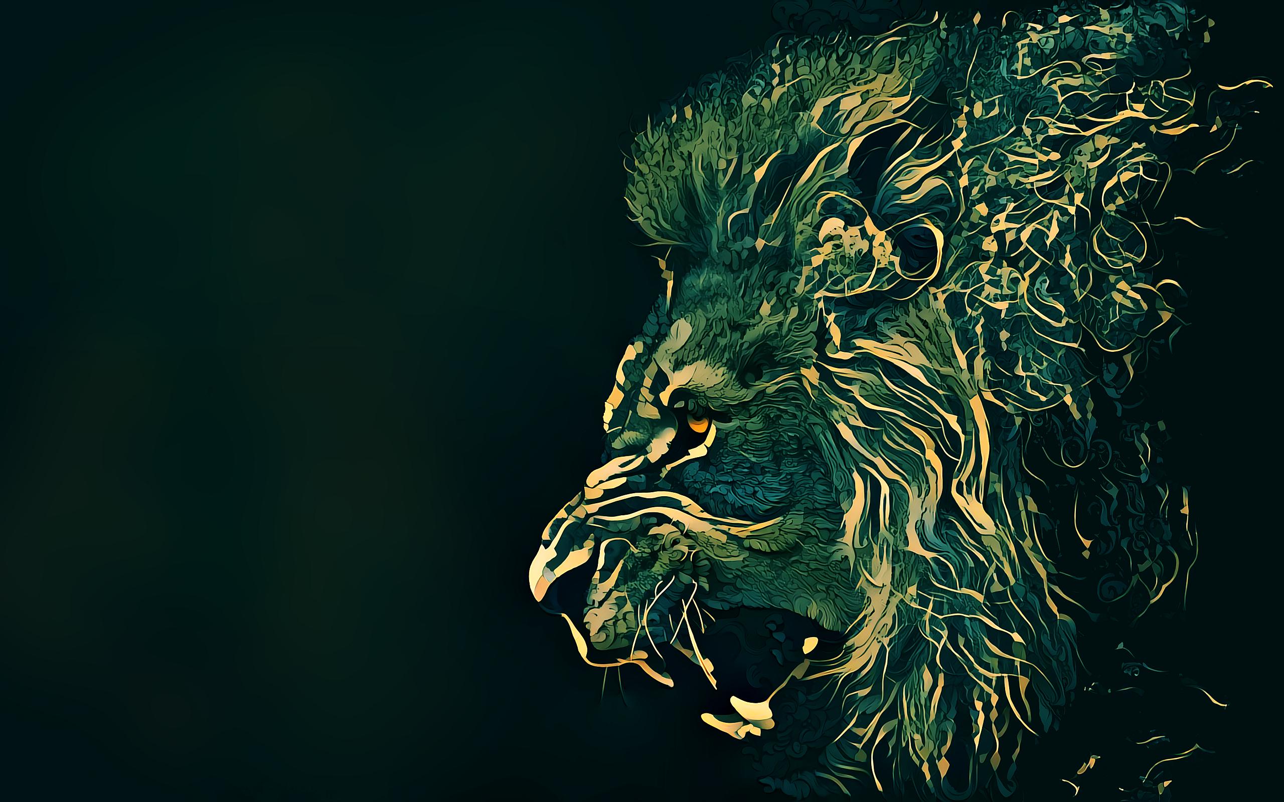 배경 화면 : 삽화, 사자, 야생 생물, 어둠, 스크린 샷, 컴퓨터 벽지, 가상의 인물, 특수 효과