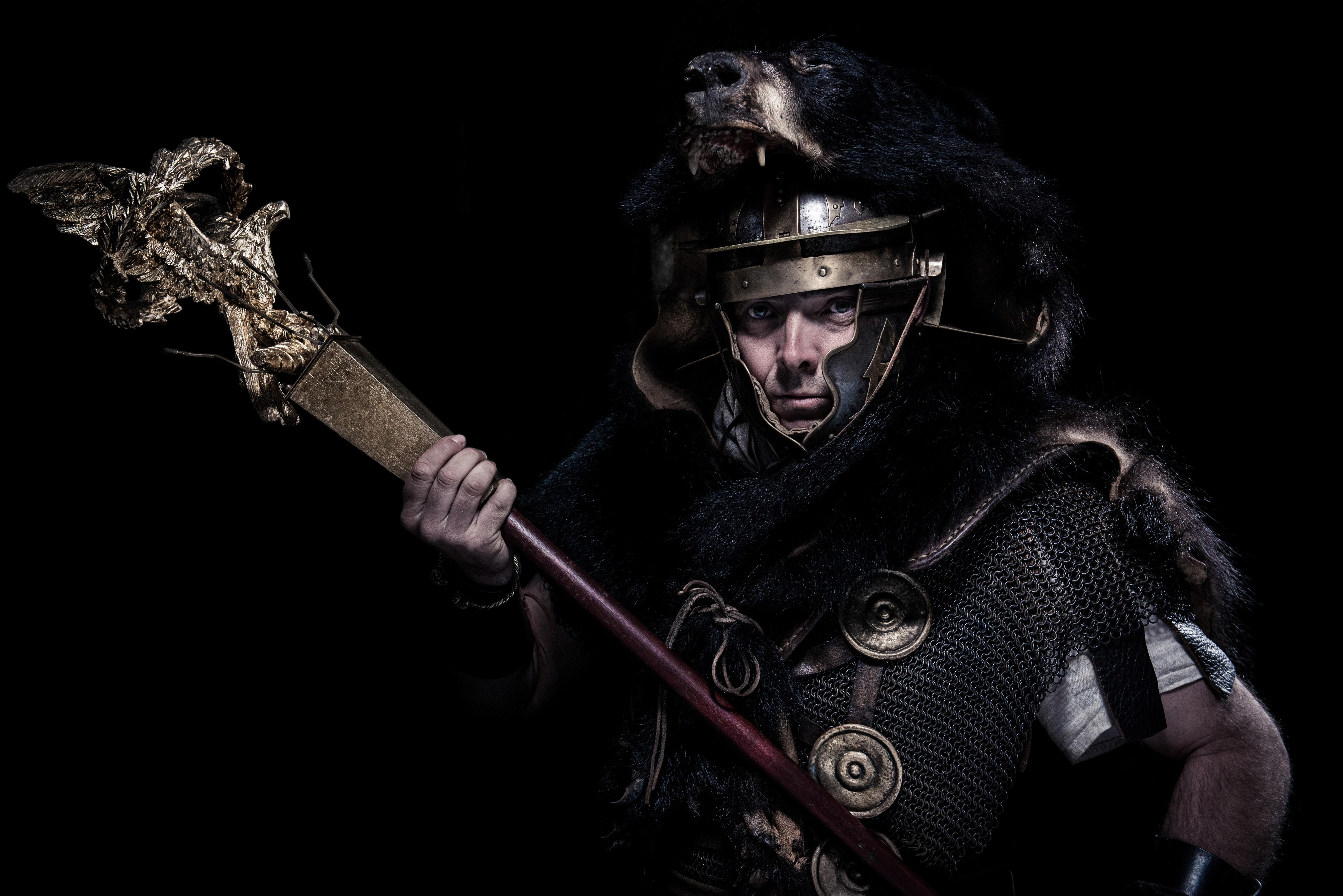 Wallpaper Artwork Soldier Roman Warrior Golden Eagles
