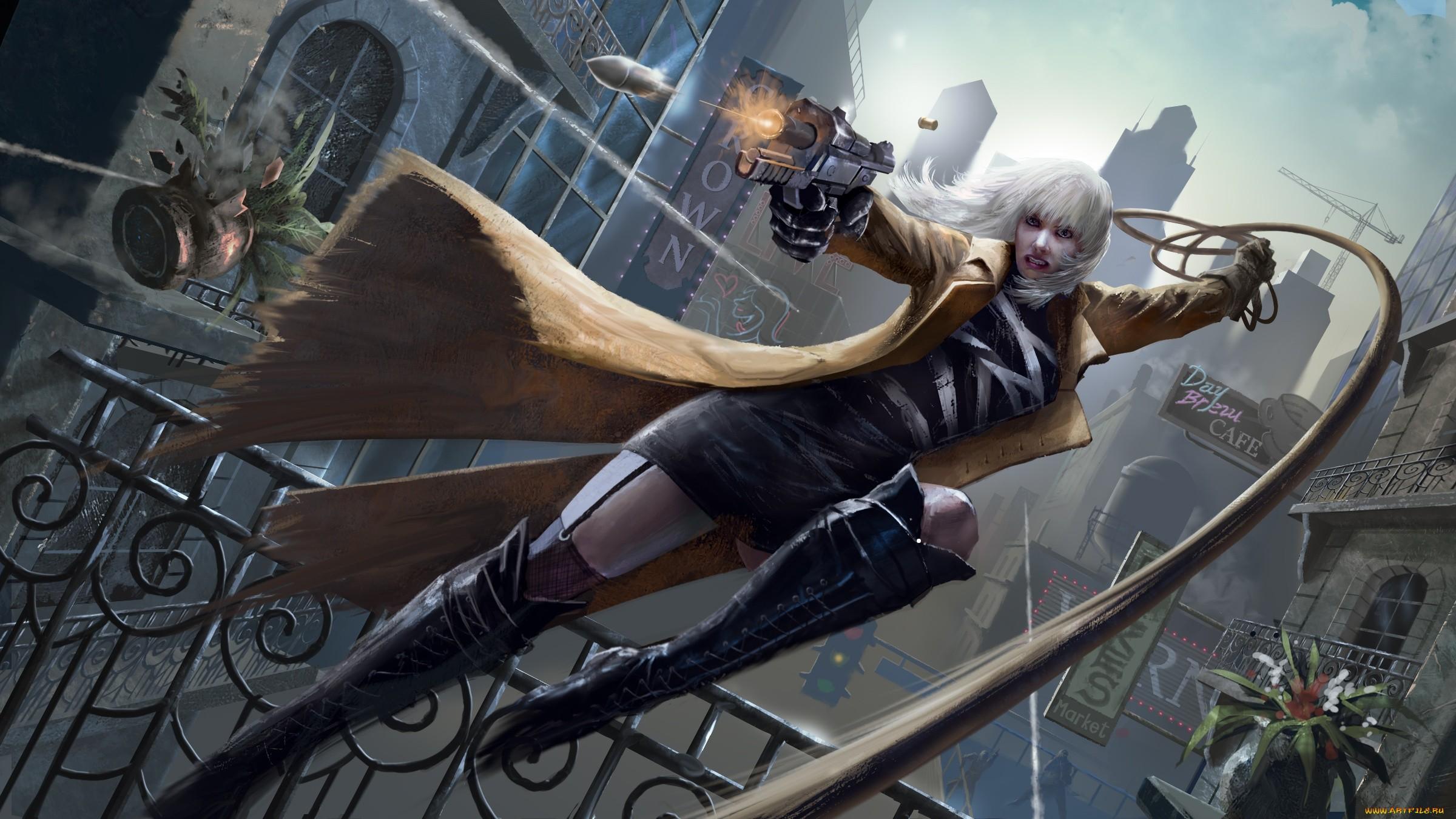 wallpaper artwork women weapon atomic blonde movie