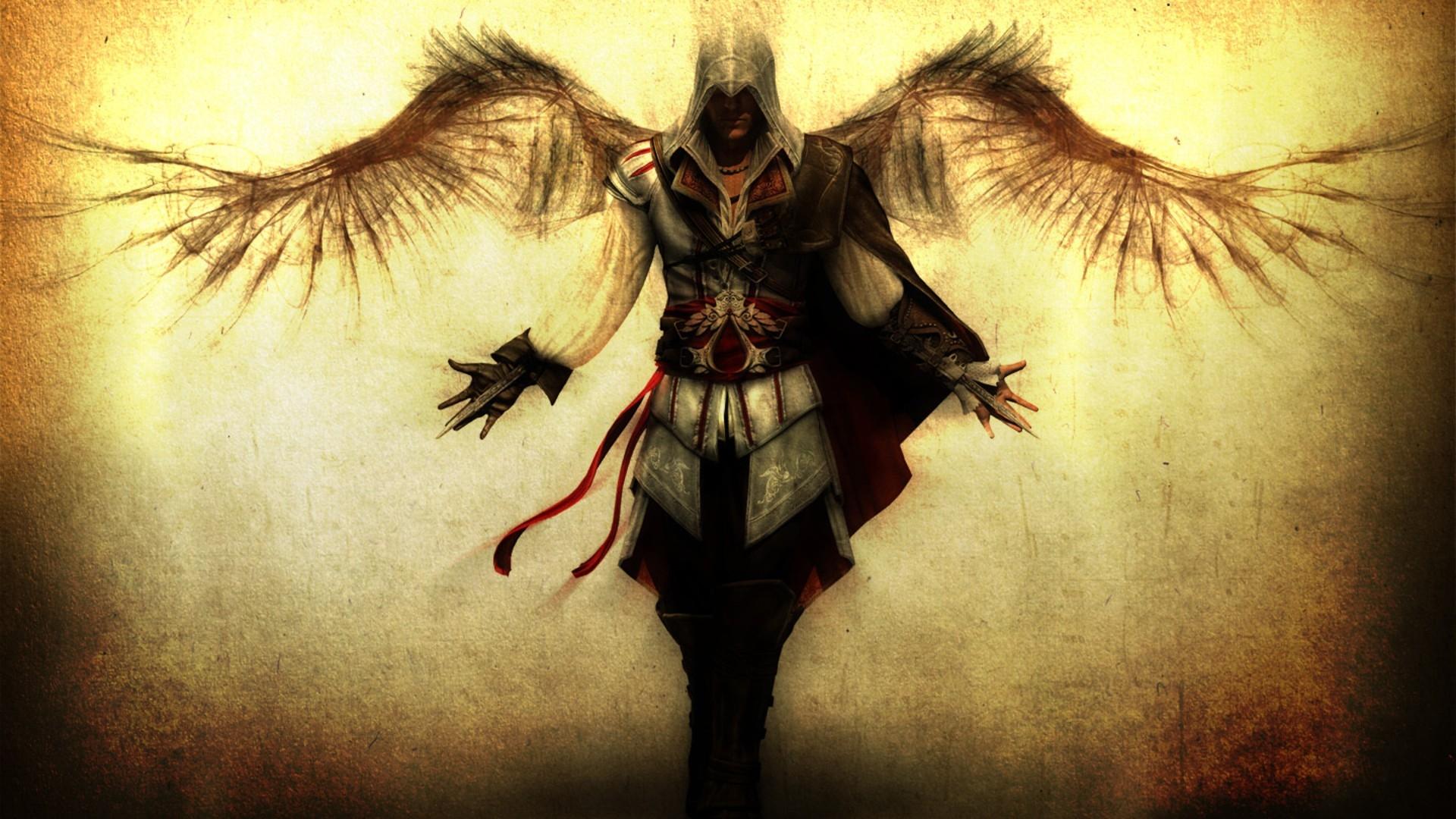 Wallpaper Assassins Creed Desmond Miles Hands Knifes Wings