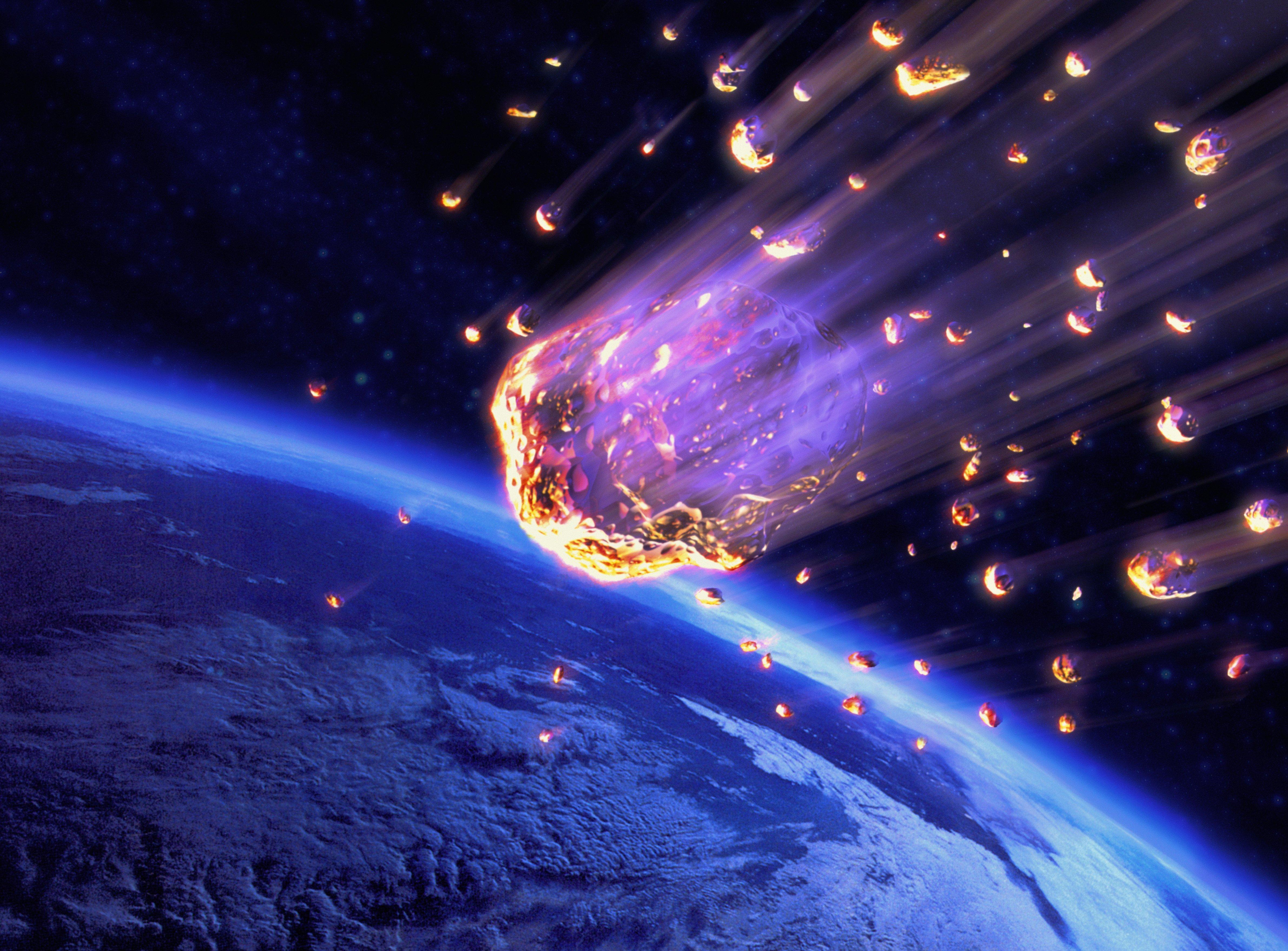 метеоры в космосе картинки как