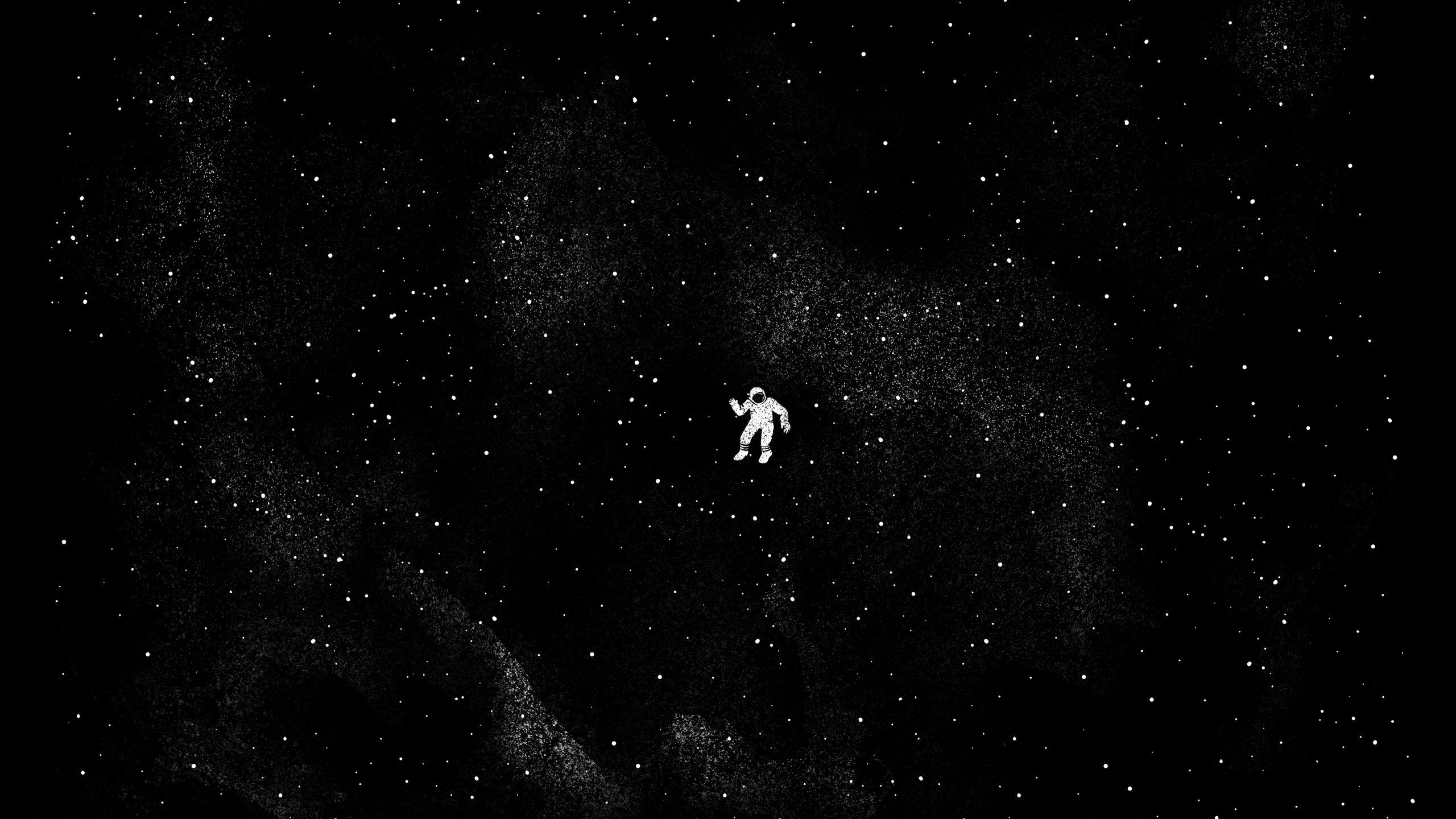 Wallpaper Astronaut Floating Monochrome Space Stars Nebula 2560x1440 Mt4s 1881113 Hd Wallpapers Wallhere