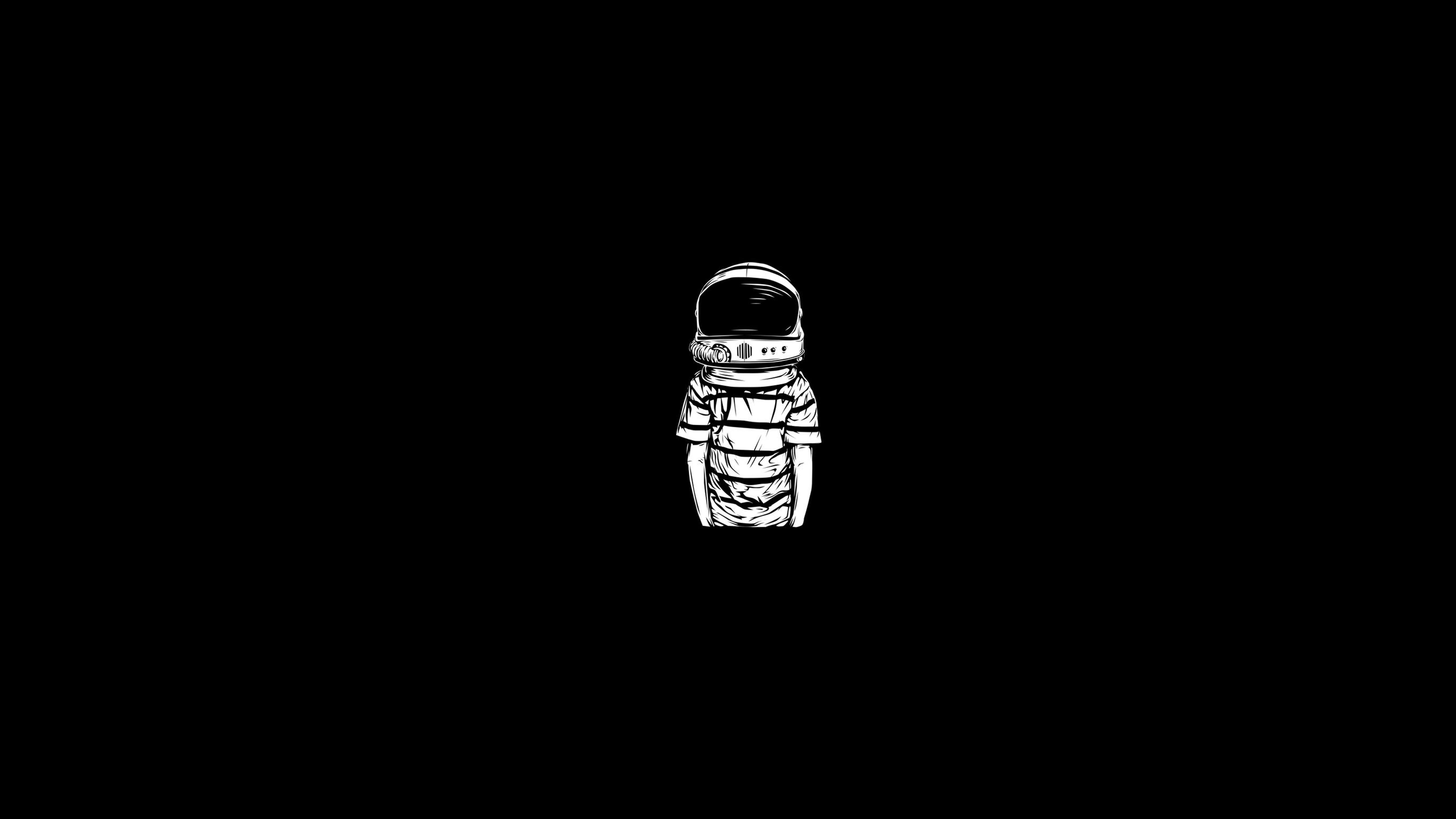 astronaut monochrome minimalism 1533849