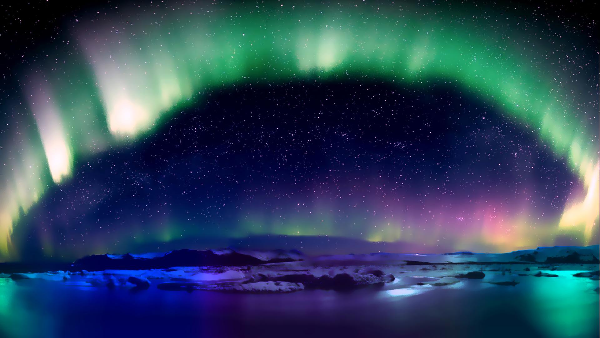 Sfondi aurora boreale 1920x1080 wind0227 1272449 for Sfondi desktop aurora boreale
