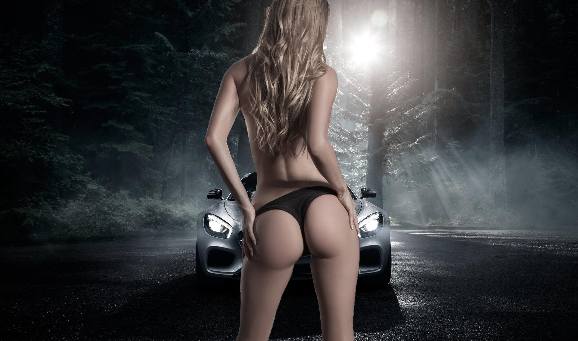デスクトップ壁紙 バックグラウンド 車 フォレスト 女の子 ヘア