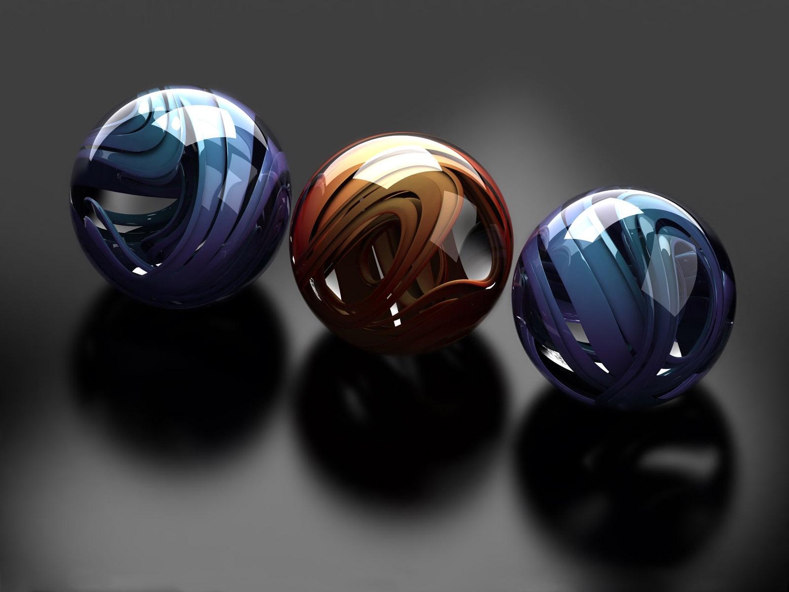 Balls Glass Metal Sleek Form