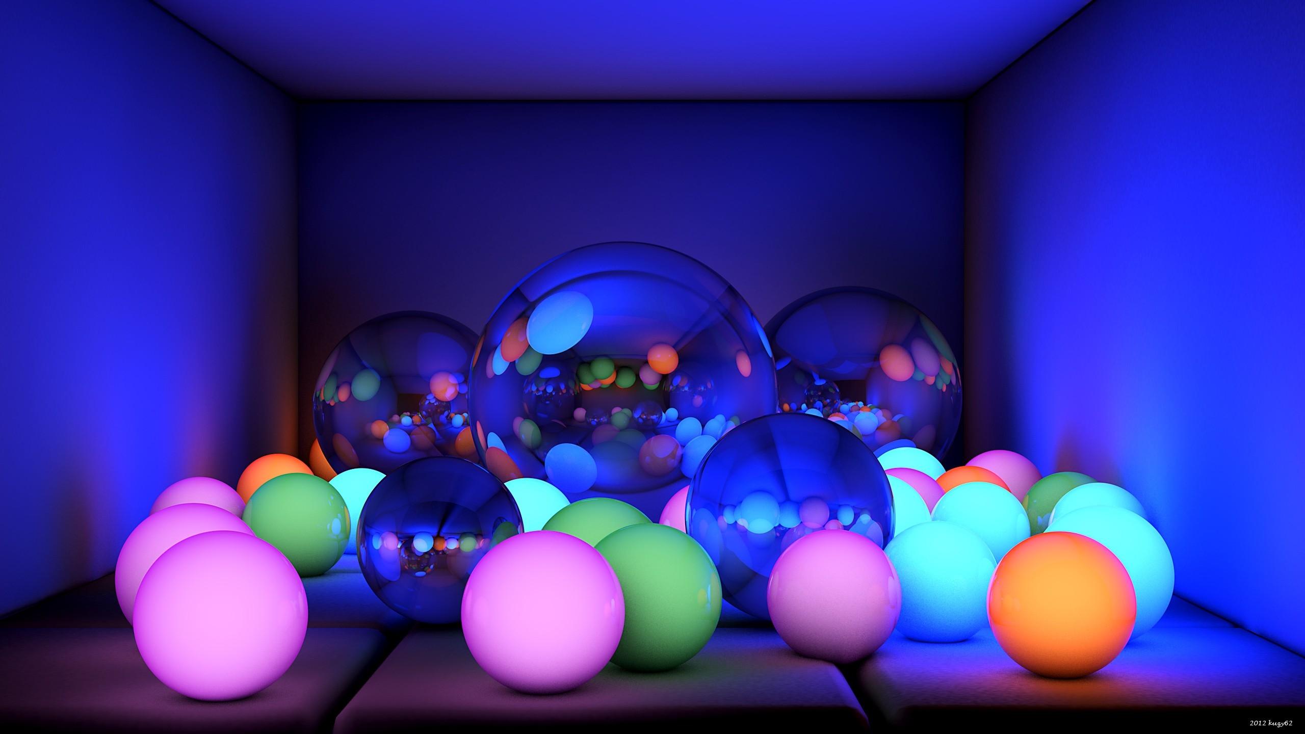 Balls Size Neon Glow