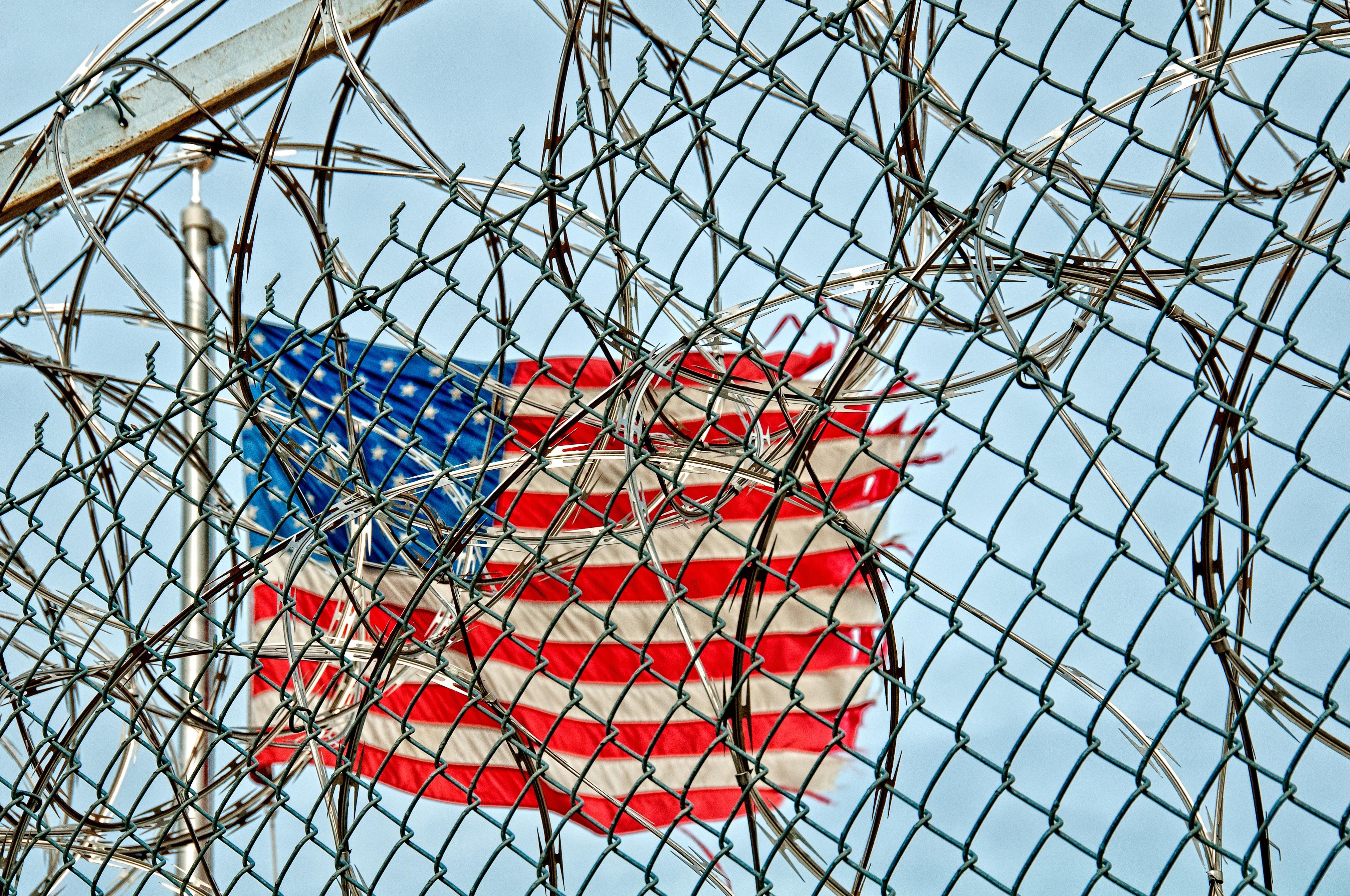 Wallpaper : barbed wire, flag, fence, scaffolding, ART, net, line ...