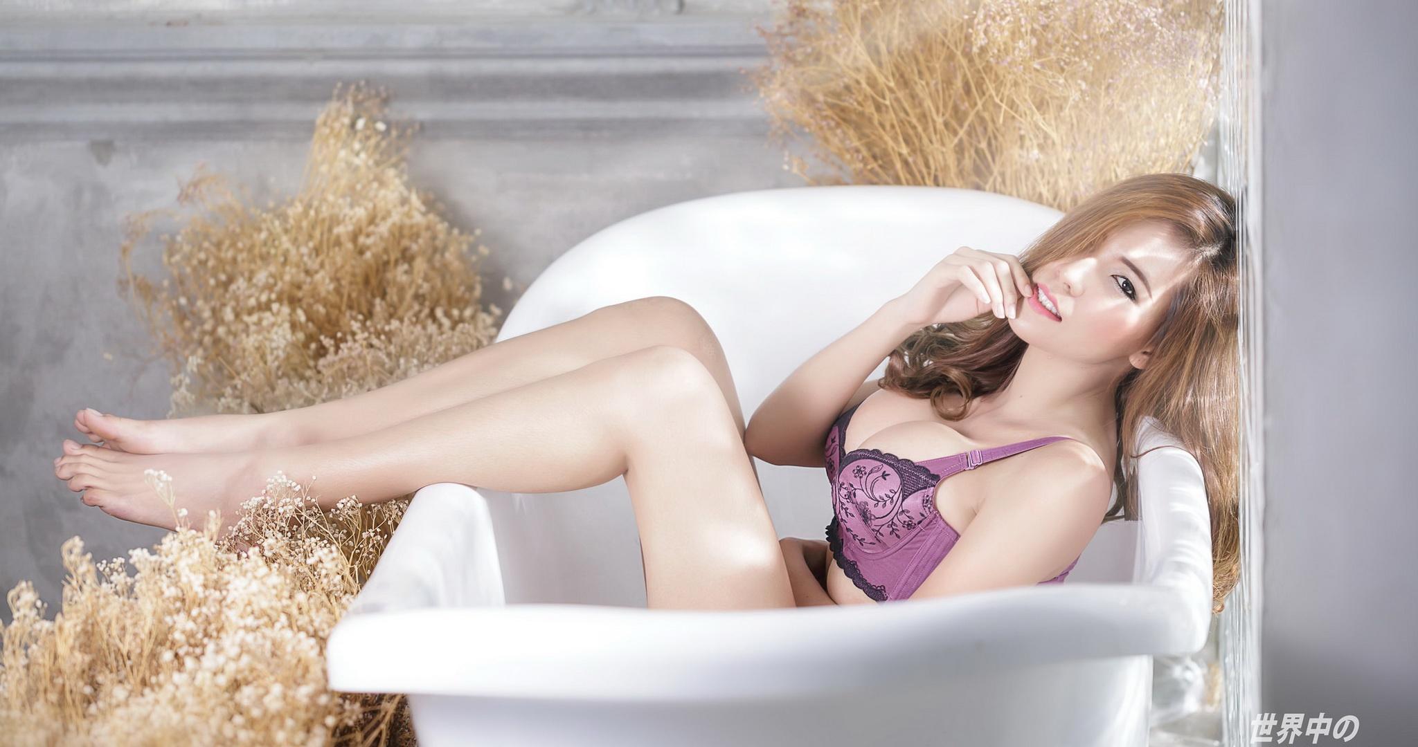 Marjana nude by the fireplace