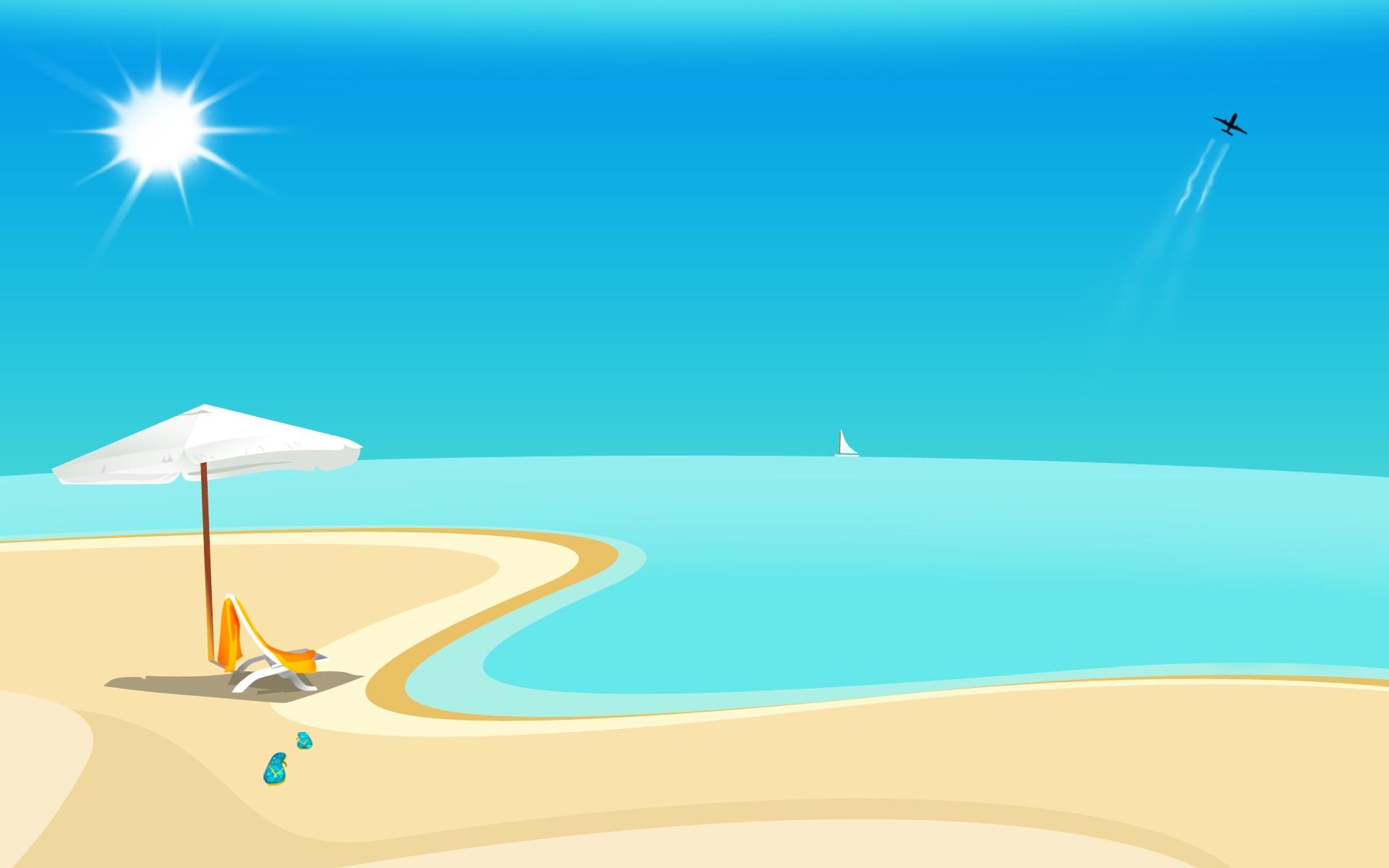 Sfondi Spiaggia Sole Mare Sabbia 1920x1200 Wallpaperup