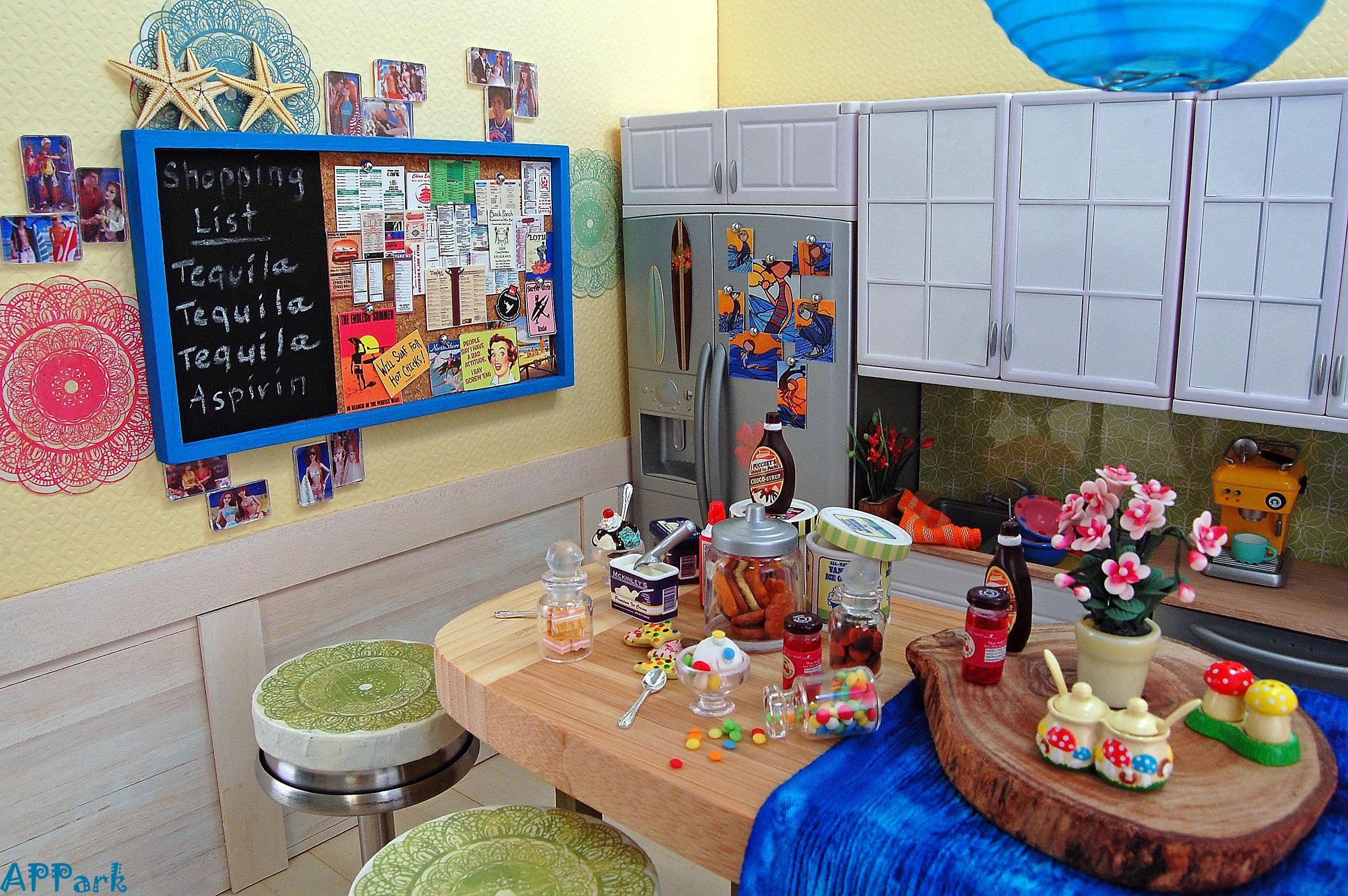 Strand Küche Puppen Dioramen Fashionroyalty 16scale Sininthecity