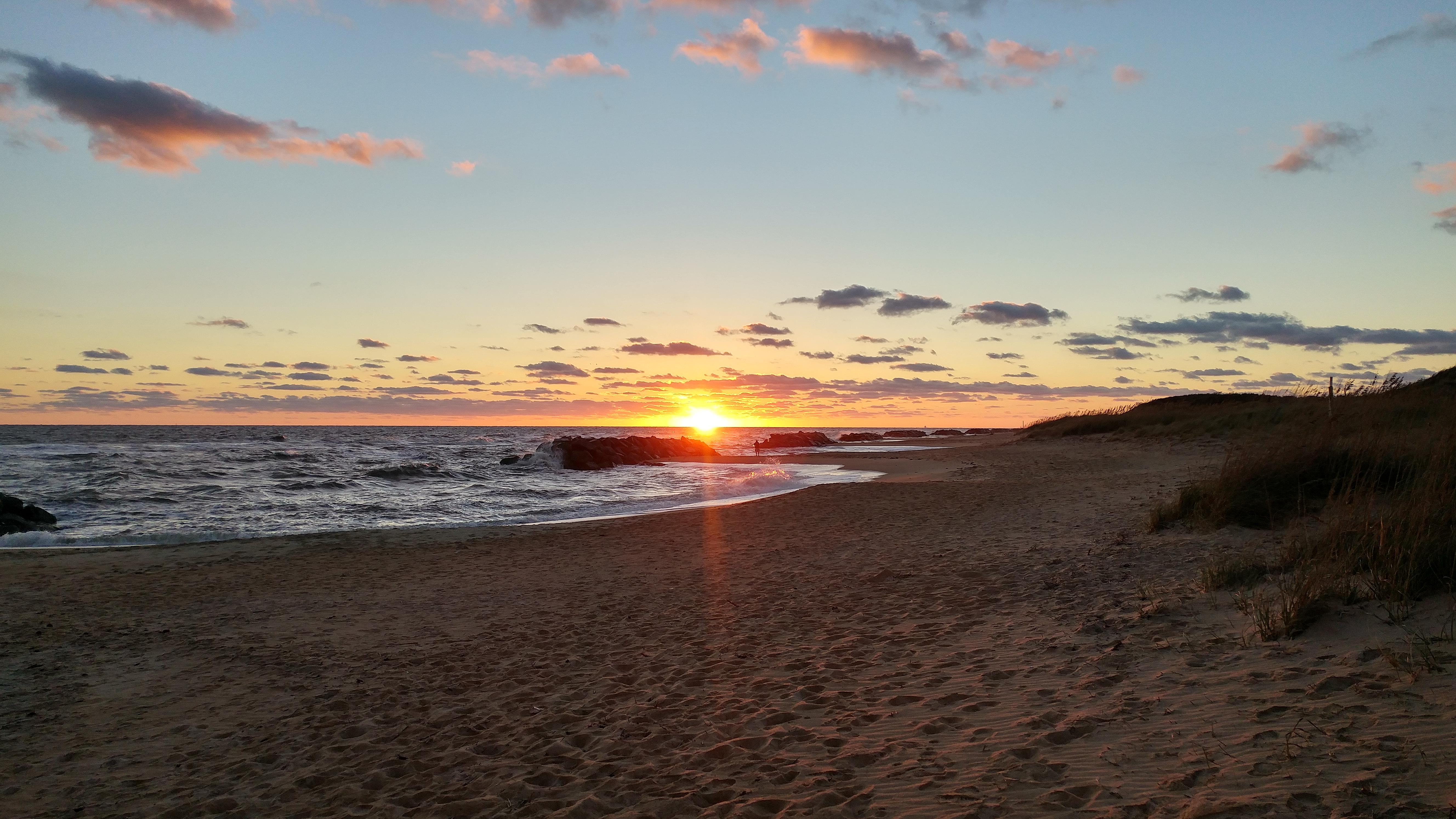 Wallpaper : beach, sunrise, Virginia Beach 5312x2988 ...