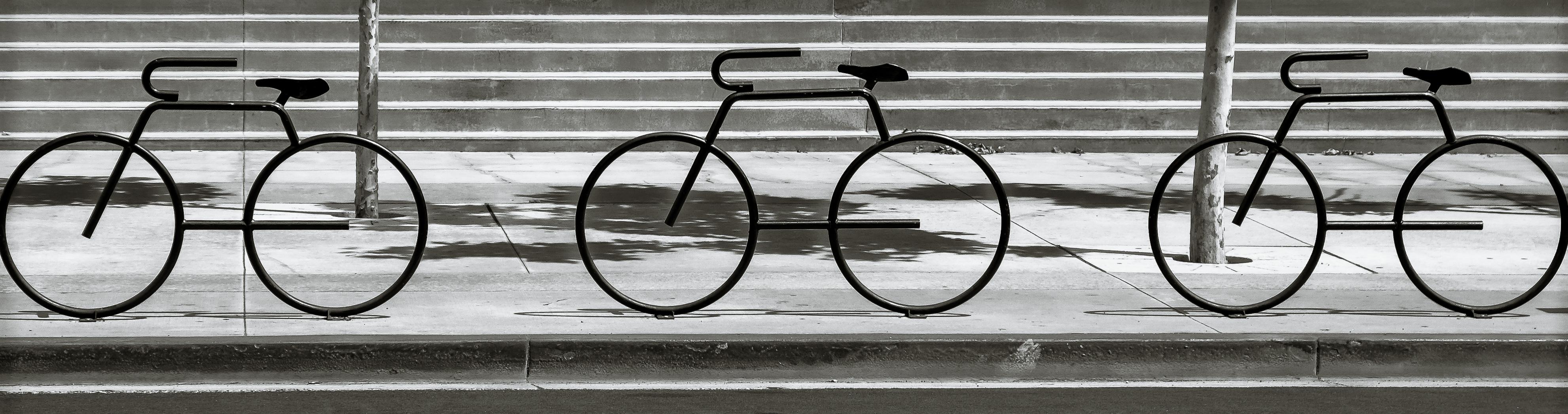 Design Stehlen hintergrundbilder fahrrad schwarz und weiß eisen mauer fahrrad