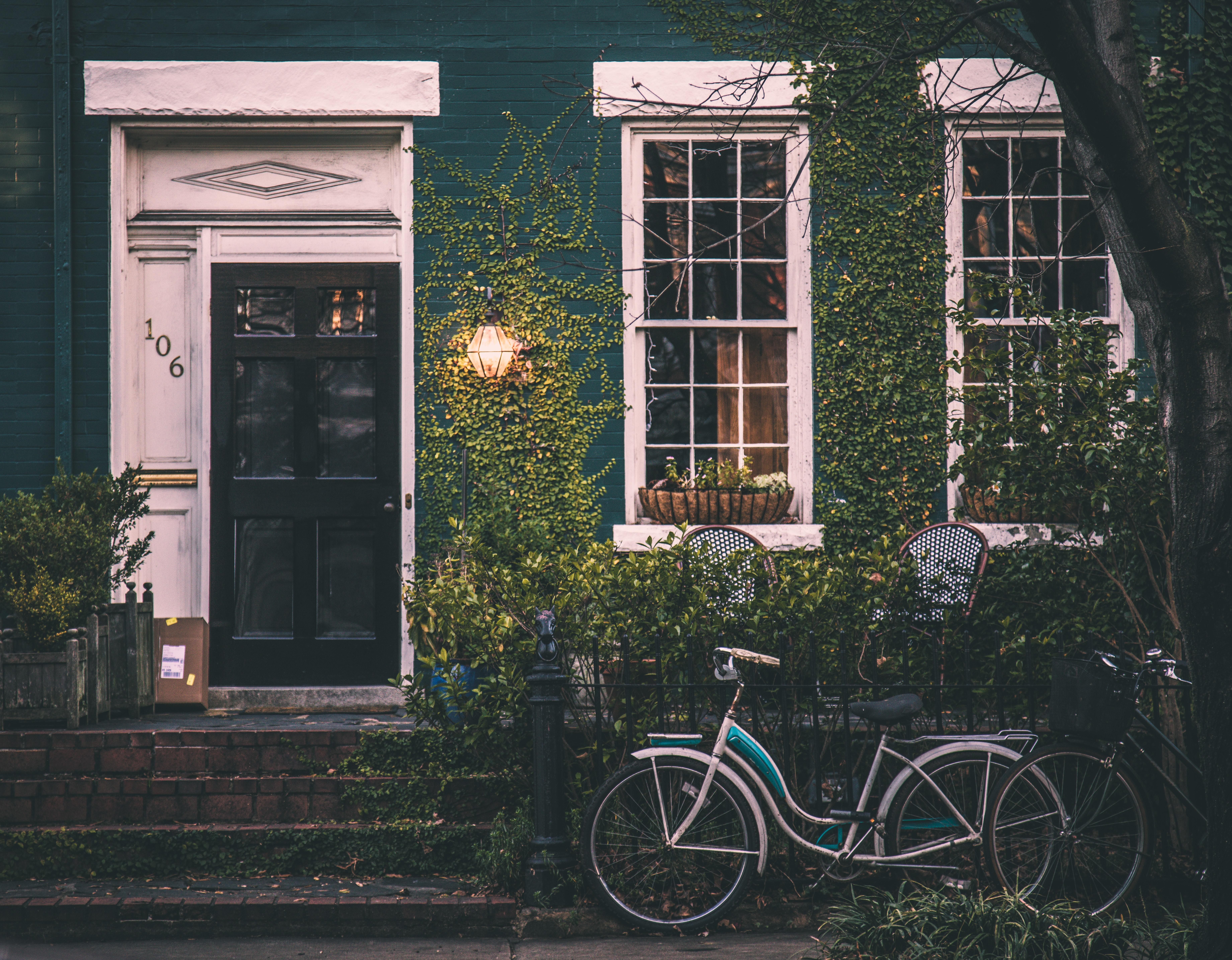 Hintergrundbilder Fahrrad Zaun Haus Fenster 7361x5736