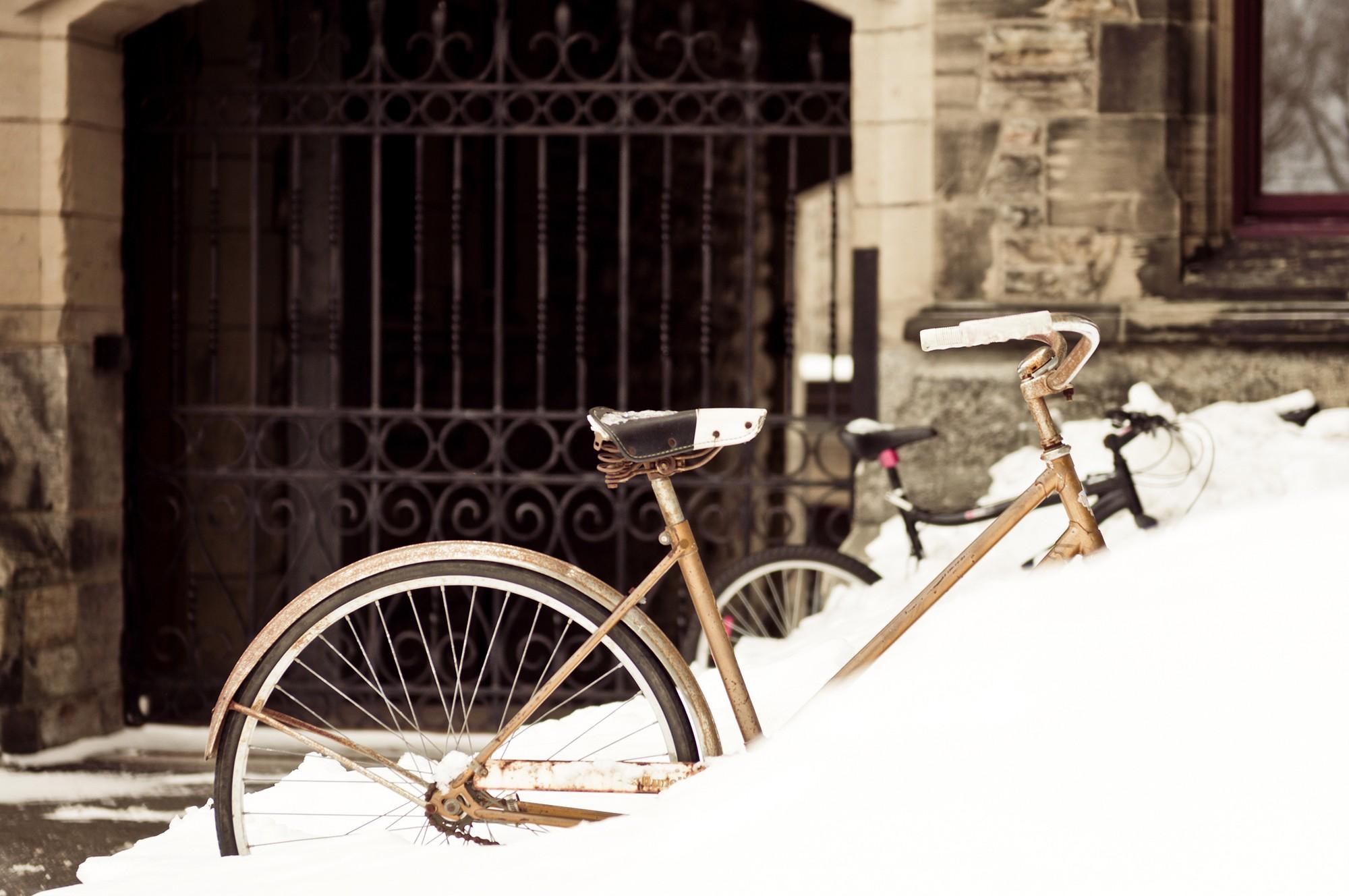 очень картинка велосипед рождество под снегом того, что короткие