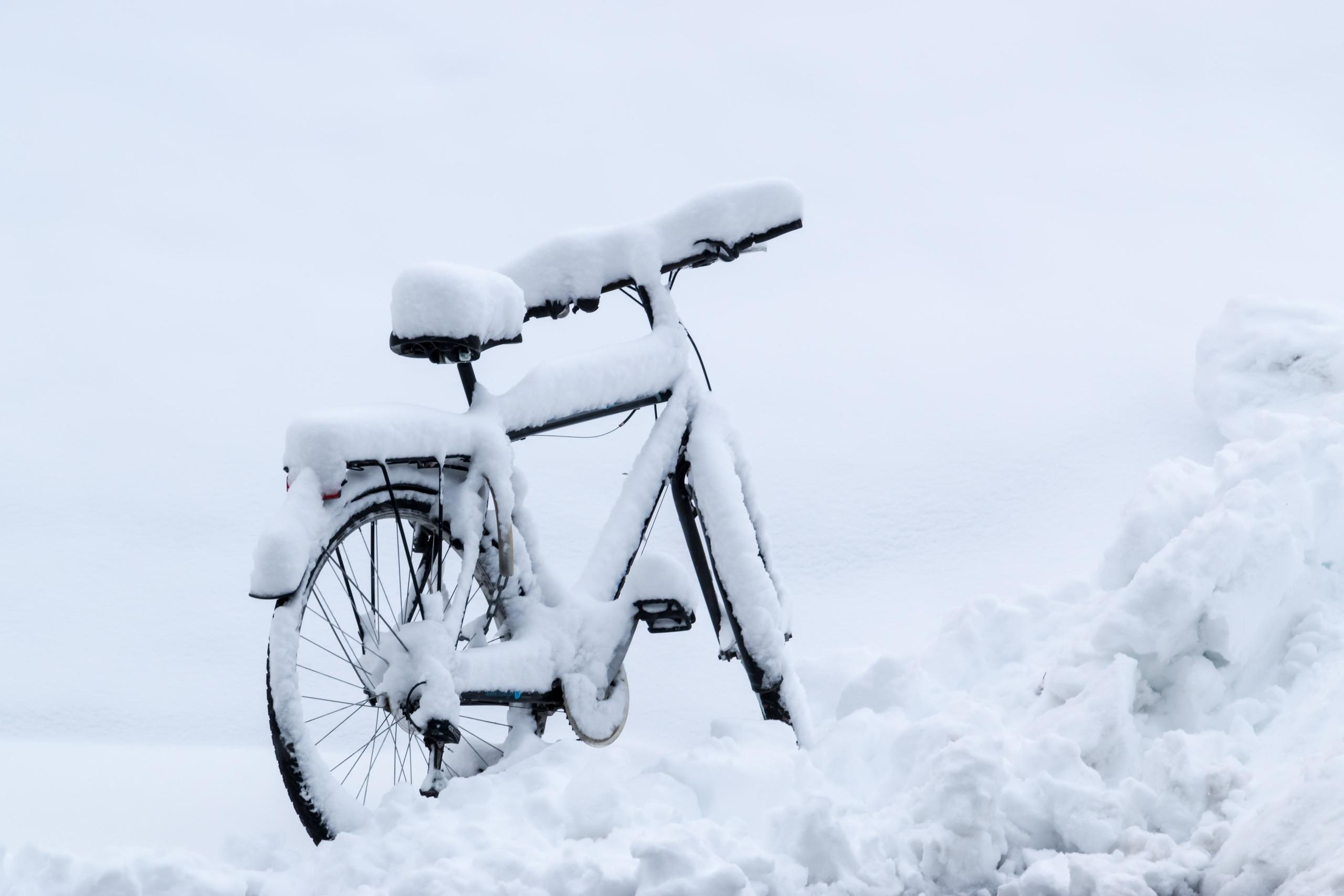 картинка велосипед рождество под снегом новостью певица поделилась