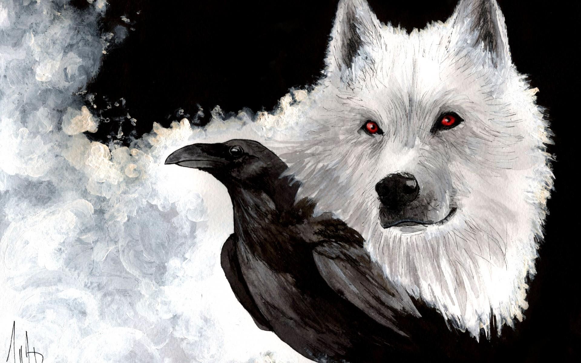 Wallpaper Birds Animals Monochrome Fantasy Art Wolf Black And White Dog Like Mammal 1920x1200 Madkads 200231 Hd Wallpapers Wallhere