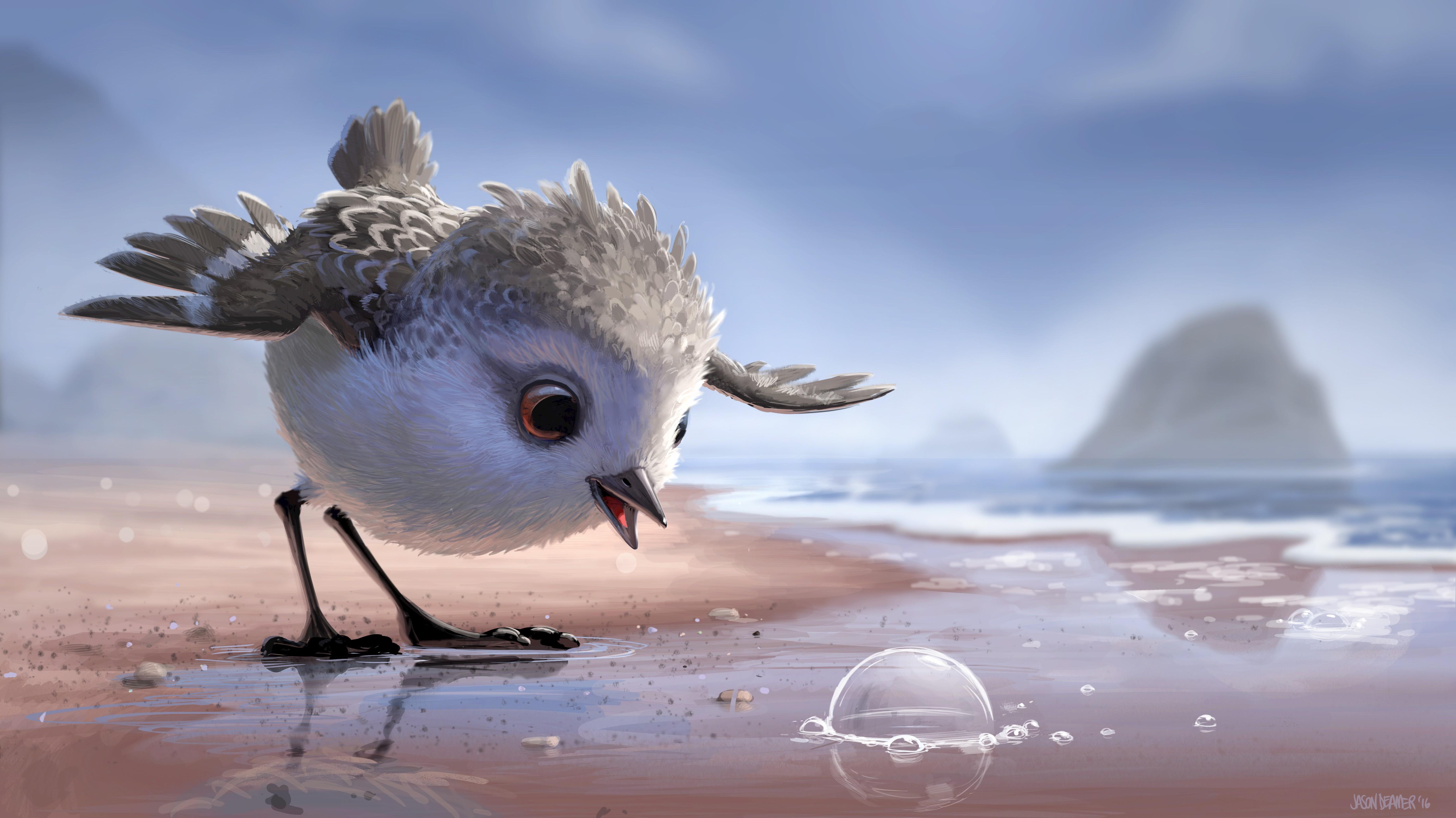 Wallpaper Burung Burung Refleksi Musim Dingin Gambar