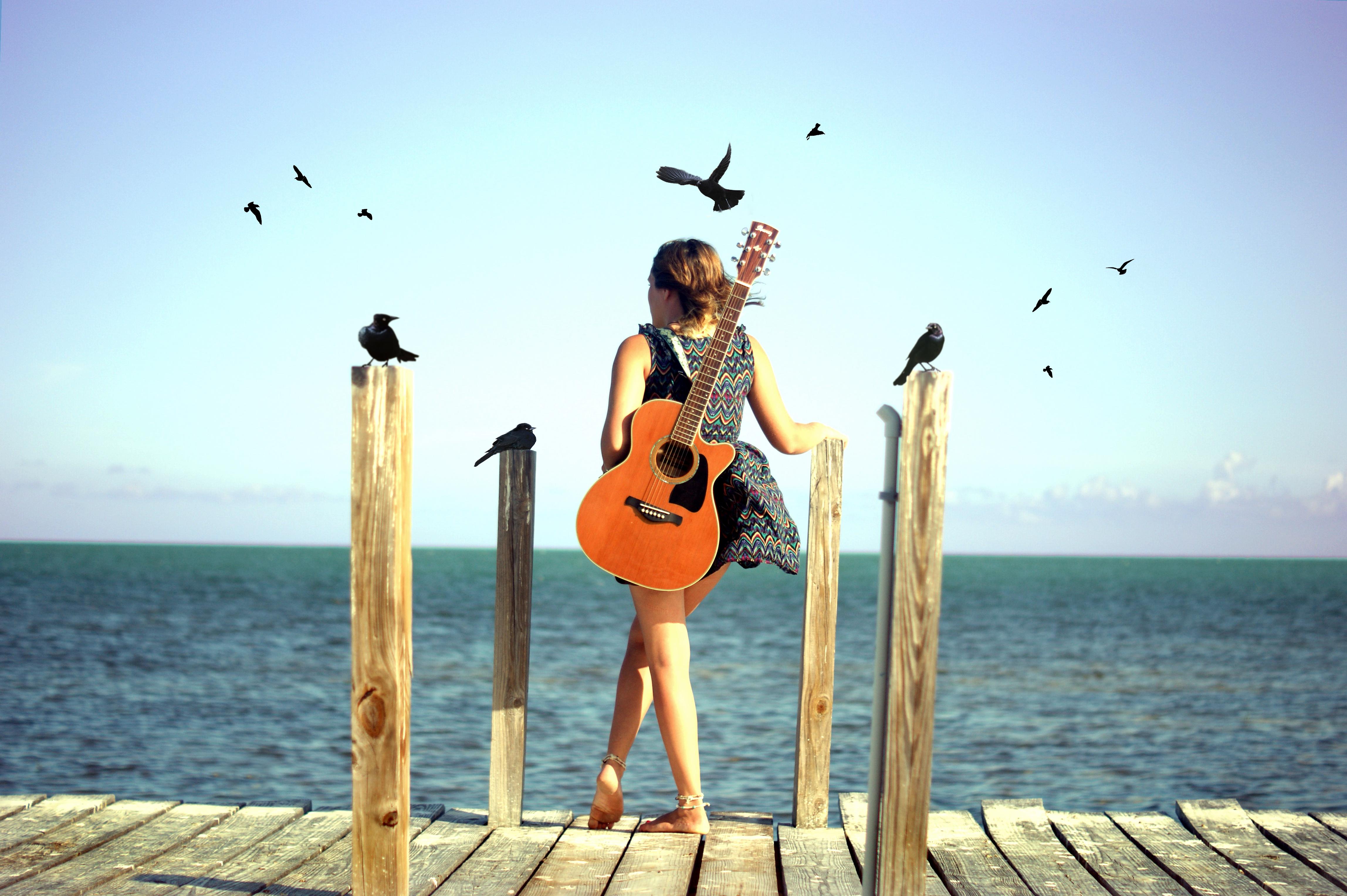 Amazing Wallpaper Music Summer - birds-sea-water-barefoot-guitar-beach-music-dress-flying-musician-summer-keys-dock-spring-Florida-vacation-50mm-f18-bird-girl-beauty-ocean-woman-photograph-blackbird-wing-image-beatles-blackbirds-photo-shoot-string-instrument-surfing-equipment-and-supplies-floridakeys-702080  Collection_7035100.jpg