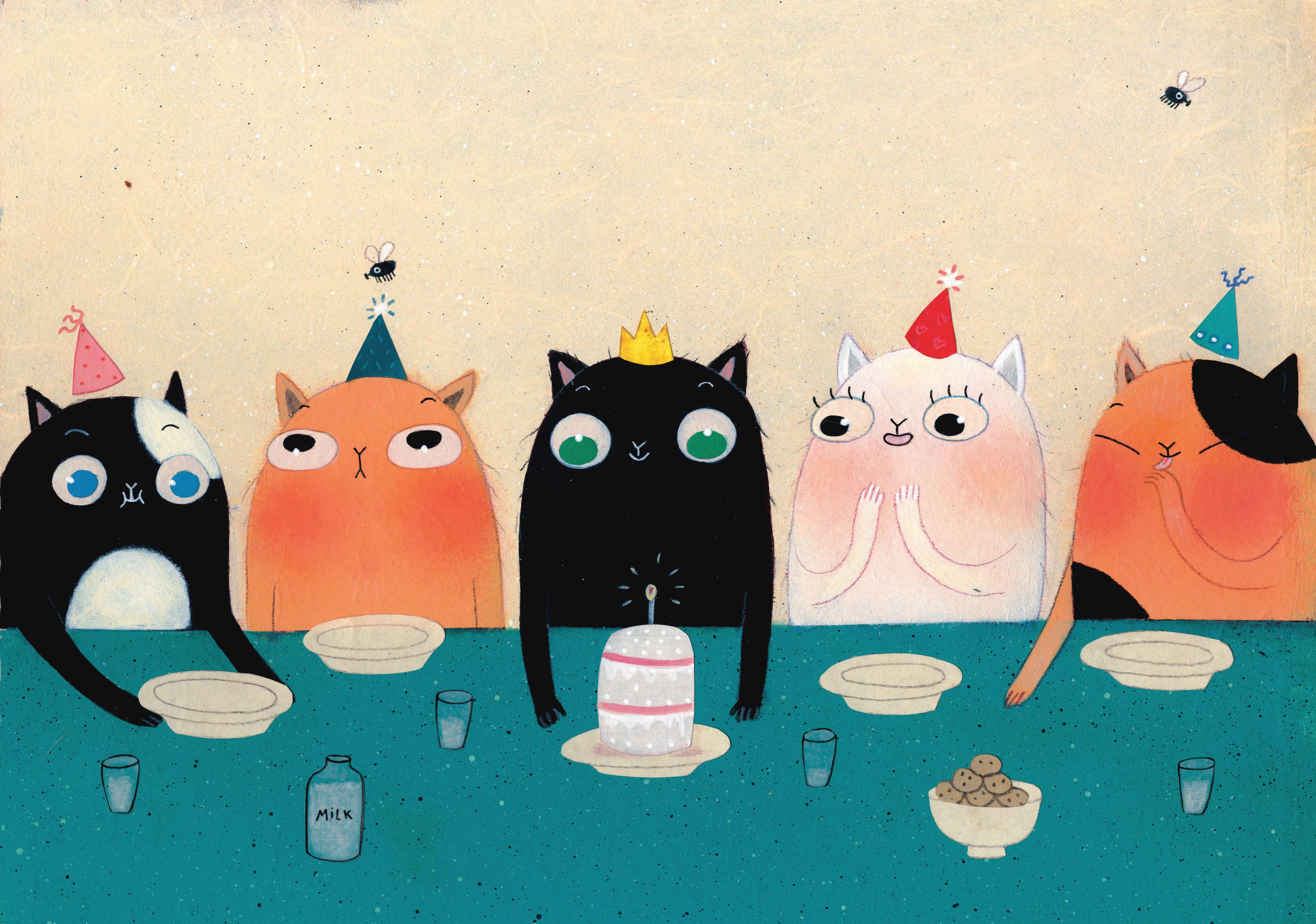Открытка с днем рождения оригинальная с котом